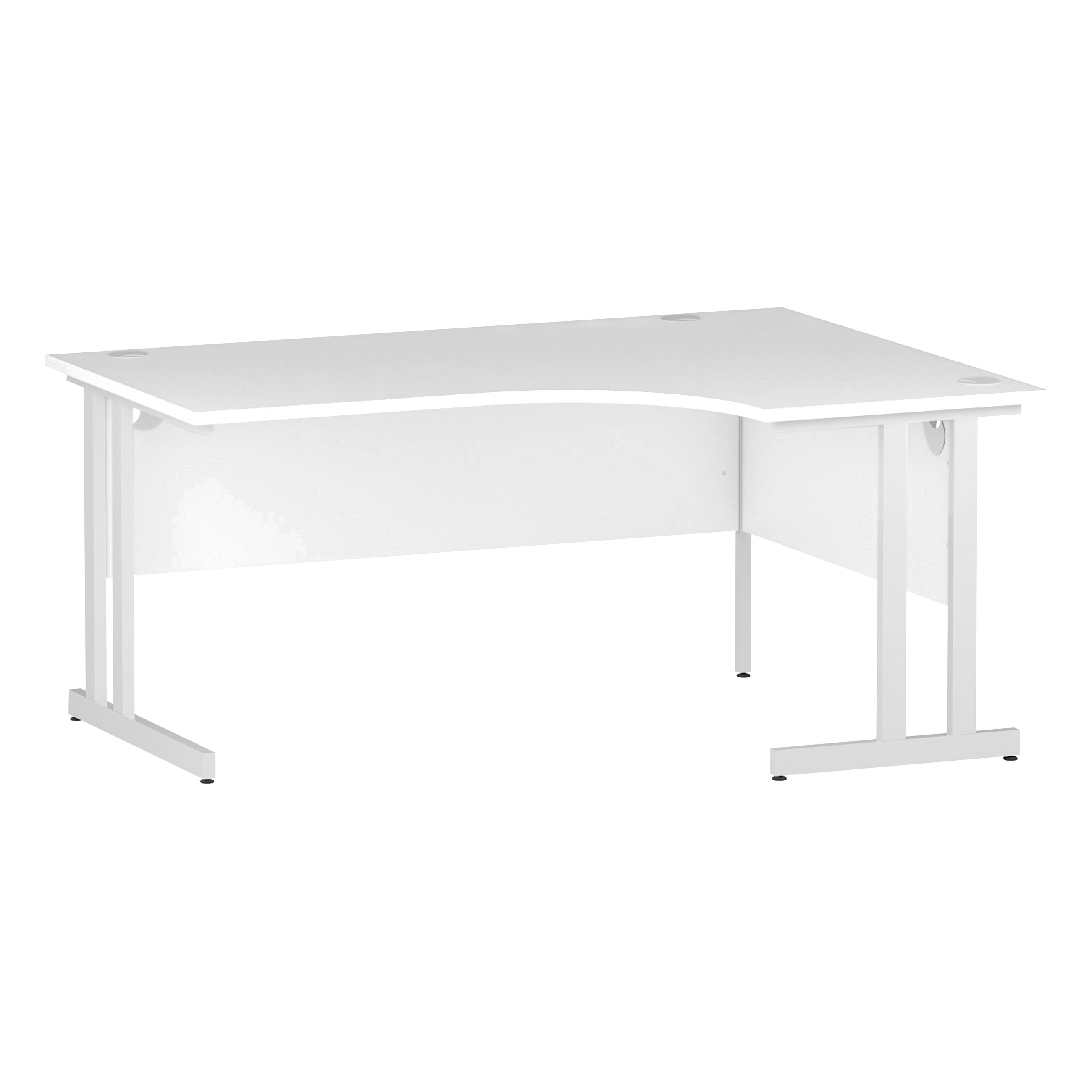 Trexus Radial Desk Right Hand White Cantilever Leg 1600mm White Ref I002393
