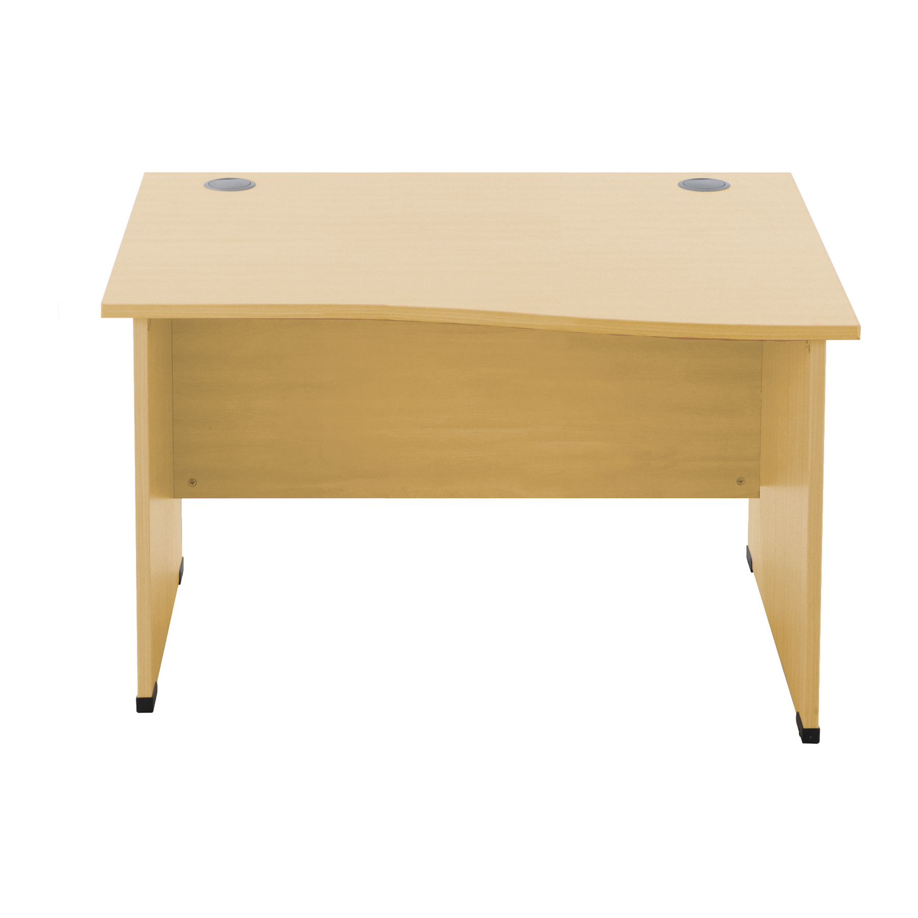 Sonix Wave Desk Right Hand Panel End Legs 1200/1000mm Natural Oak Ref w9406ro