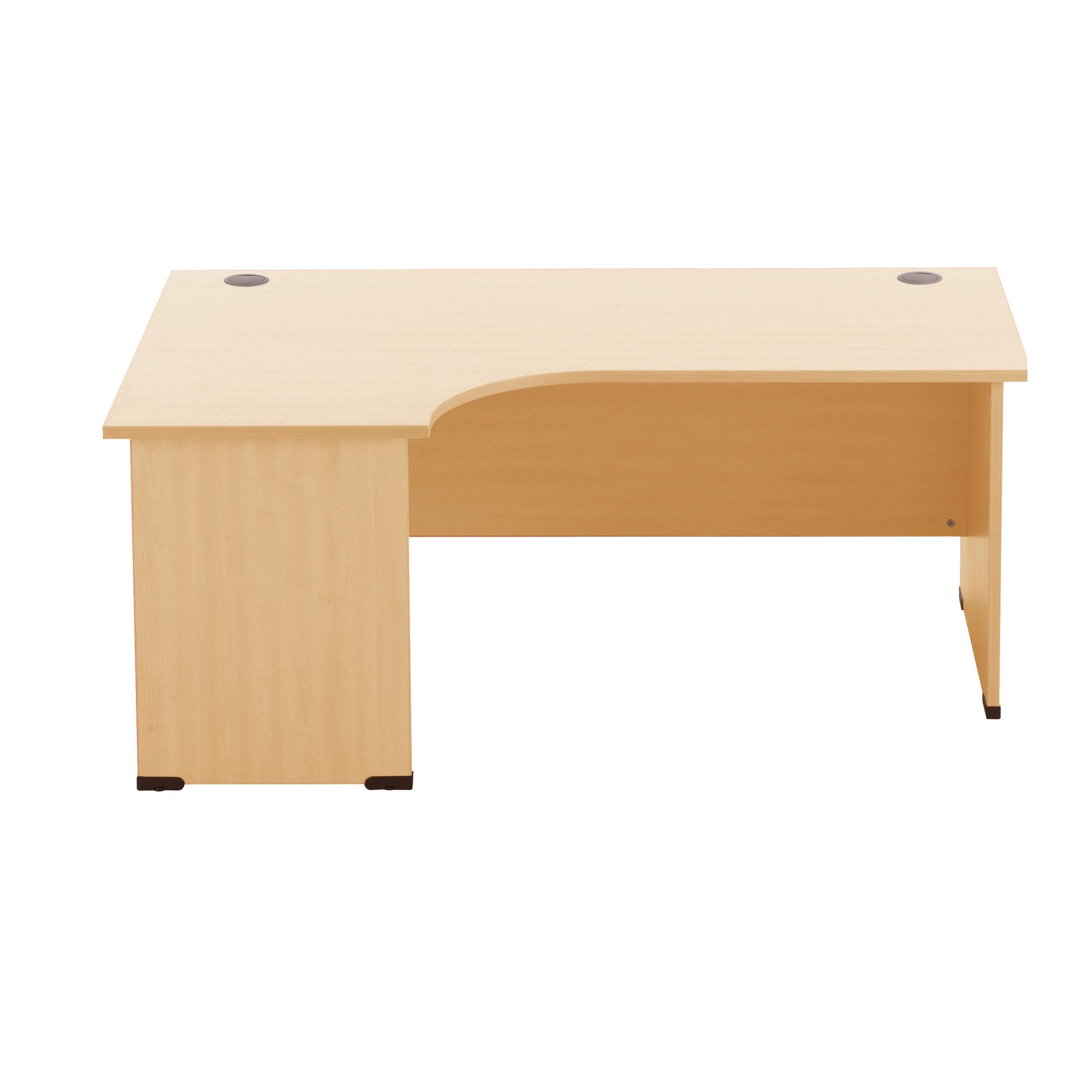 Sonix Radial Desk Left Hand Panel End Legs 1800/1170mm Acer Maple Ref w9411m