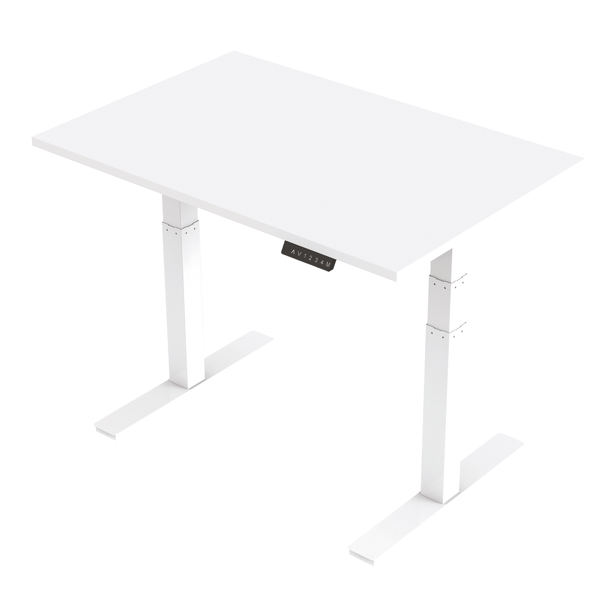 Trexus Sit Stand Desk Height-adjustable White Leg Frame 1200/800mm White Ref HA01029