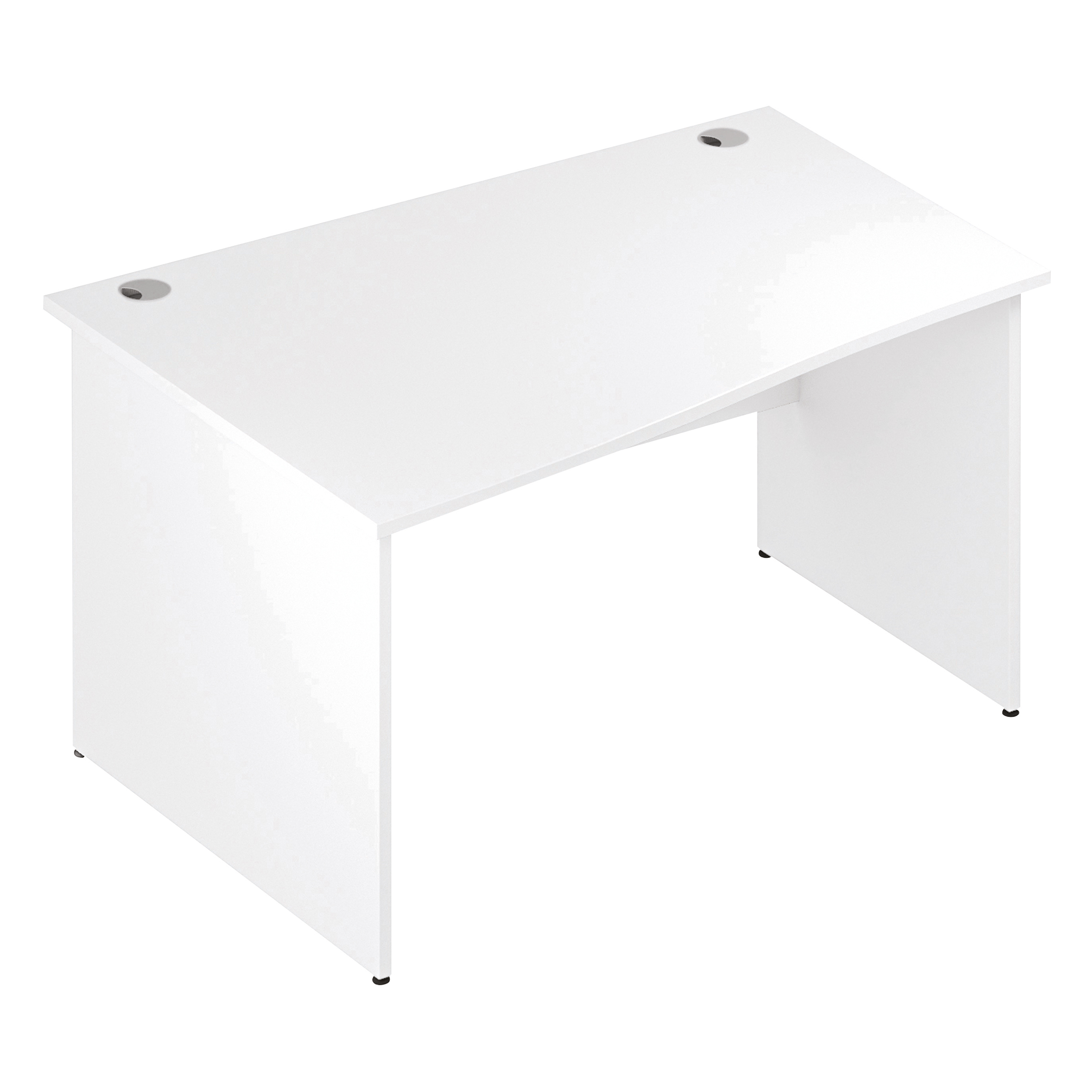 Trexus Wave Desk Left Hand Panel Leg 1400/1000mm White Ref I000397