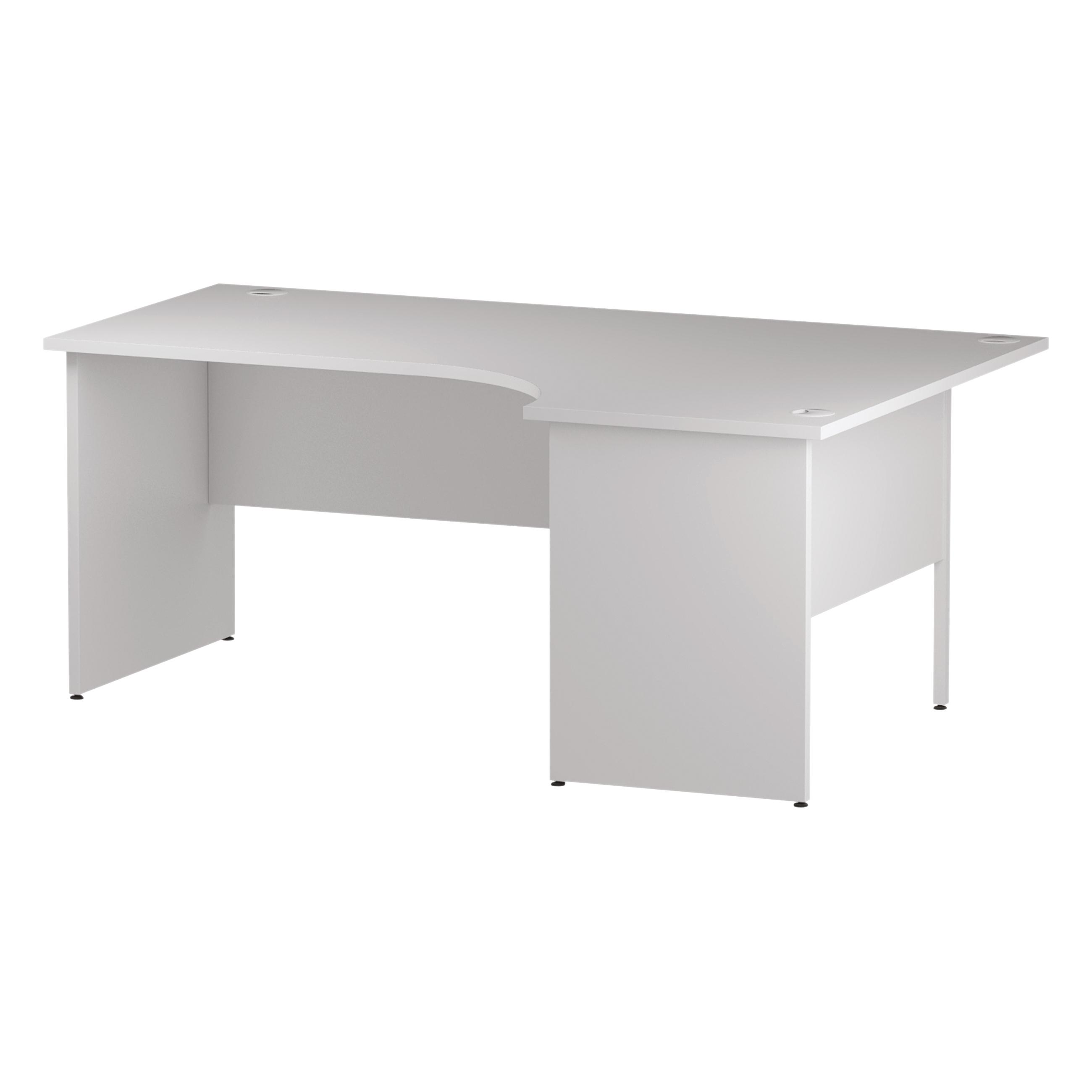 Trexus Radial Desk Right Hand Panel End Leg 1800/1200mm White Ref I000412