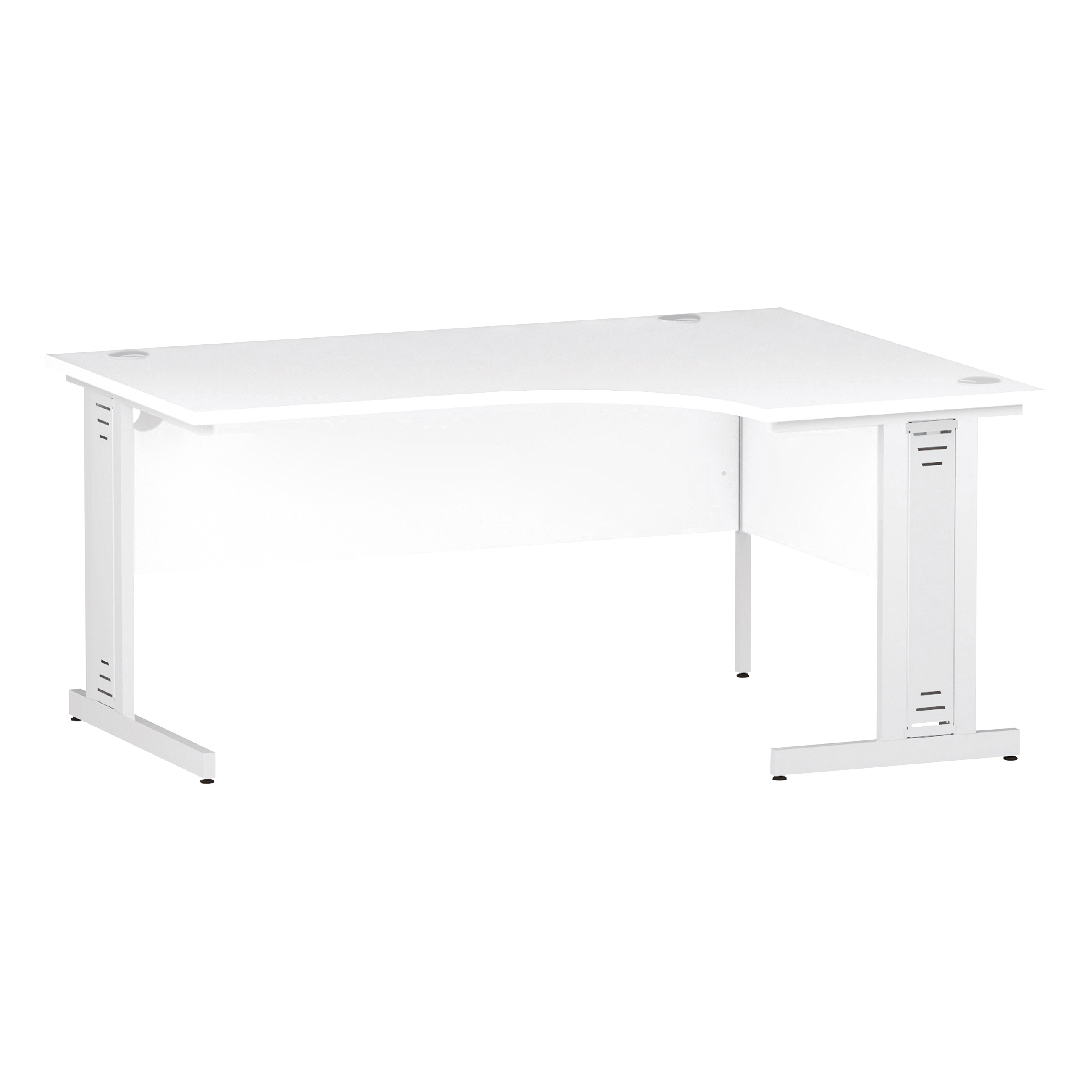 Trexus Radial Desk Right Hand White Cable Managed Leg 1600/1200mm White Ref I002397