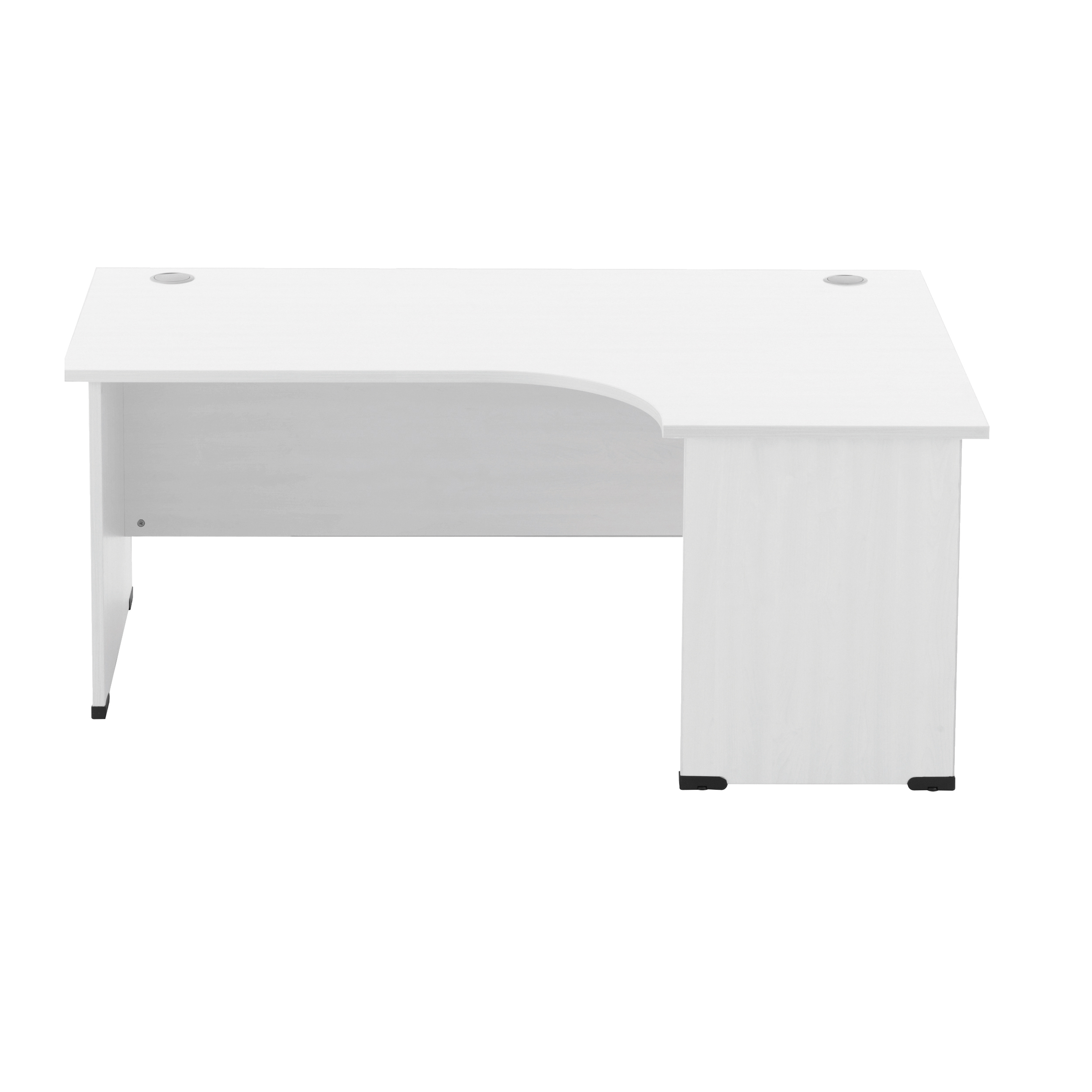 Sonix Radial Desk Right Hand Panel End Legs 1800/1170mm Polar White Ref w9411rwh