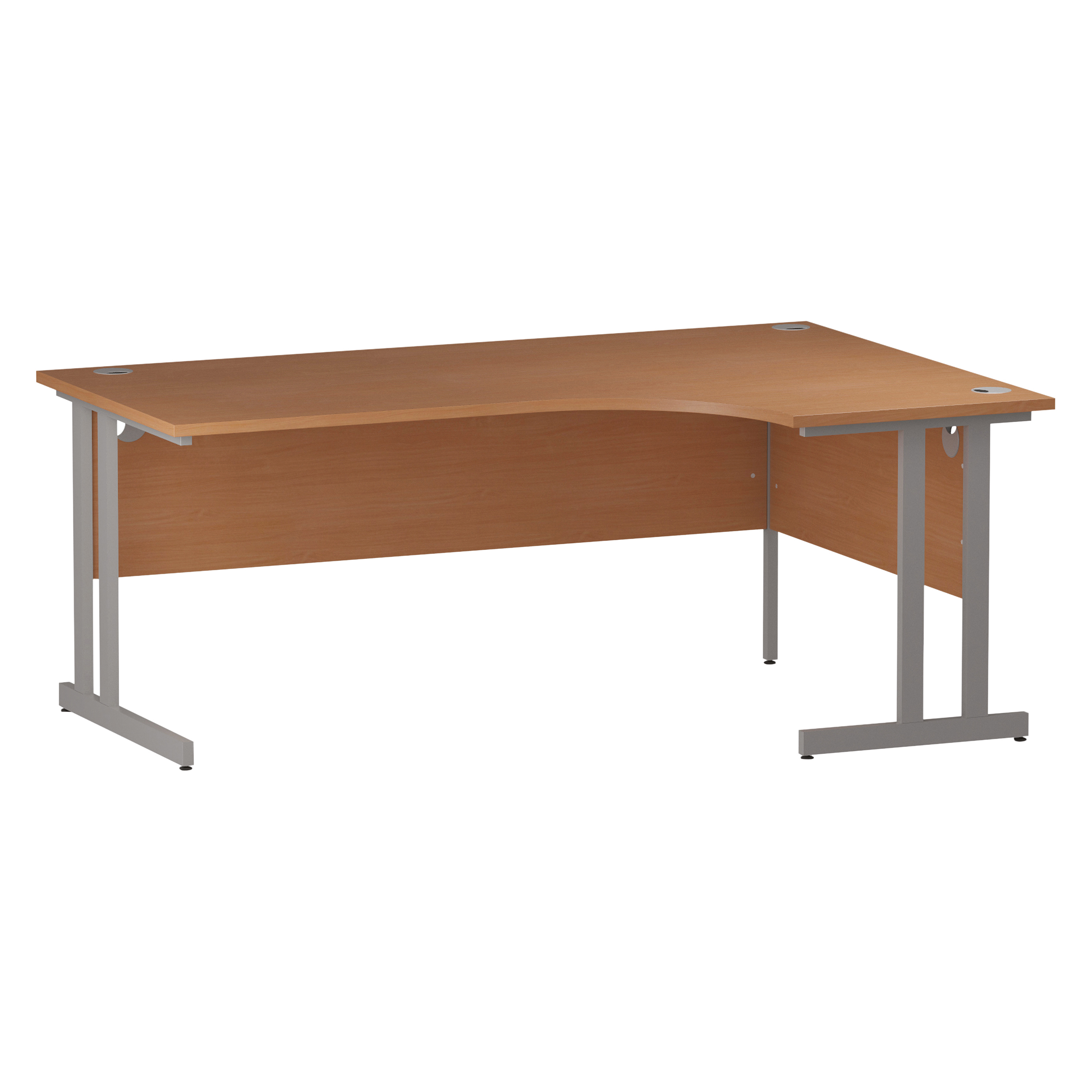 Trexus Radial Desk Right Hand Silver Cantilever Leg 1800mm Beech Ref I000302