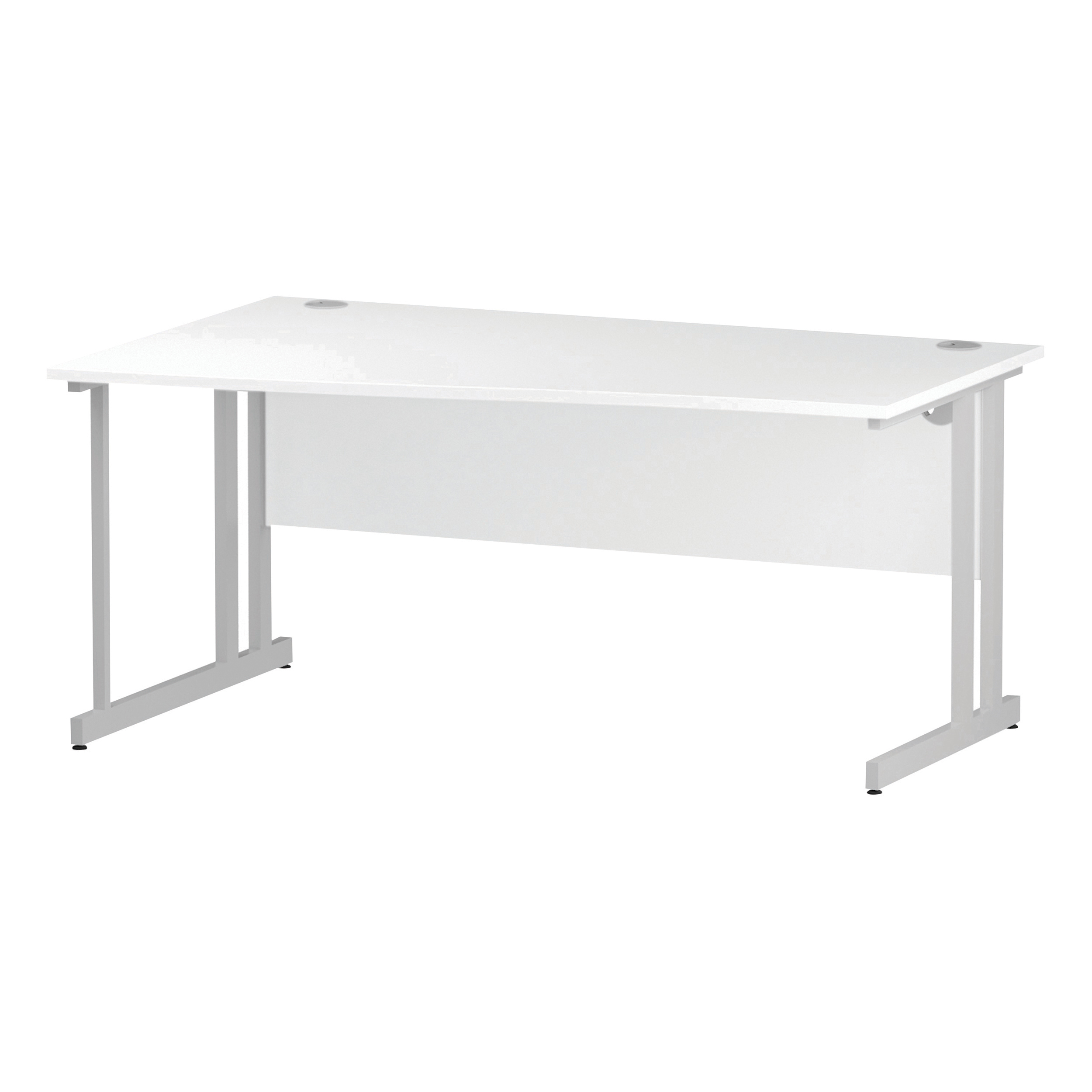 Trexus Wave Desk Left Hand White Cantilever Leg 1600mm White Ref I002343