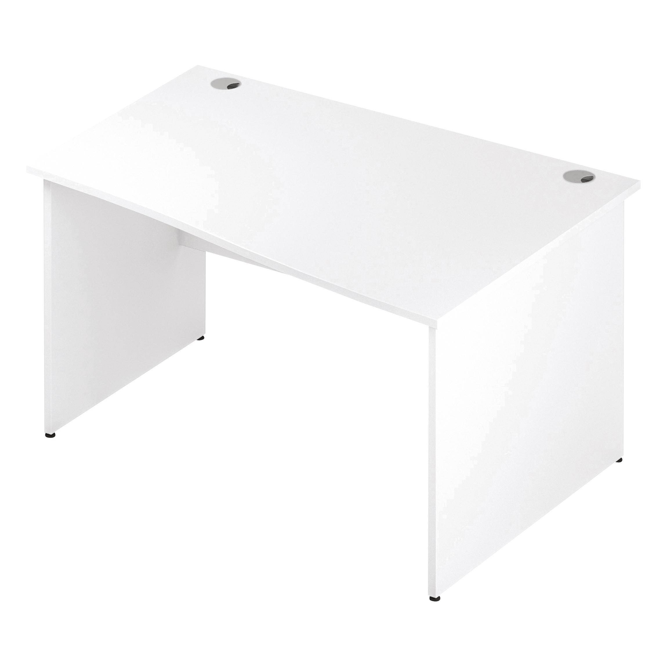 Trexus Wave Desk Right Hand Panel Leg 1400/1000mm White Ref I000398