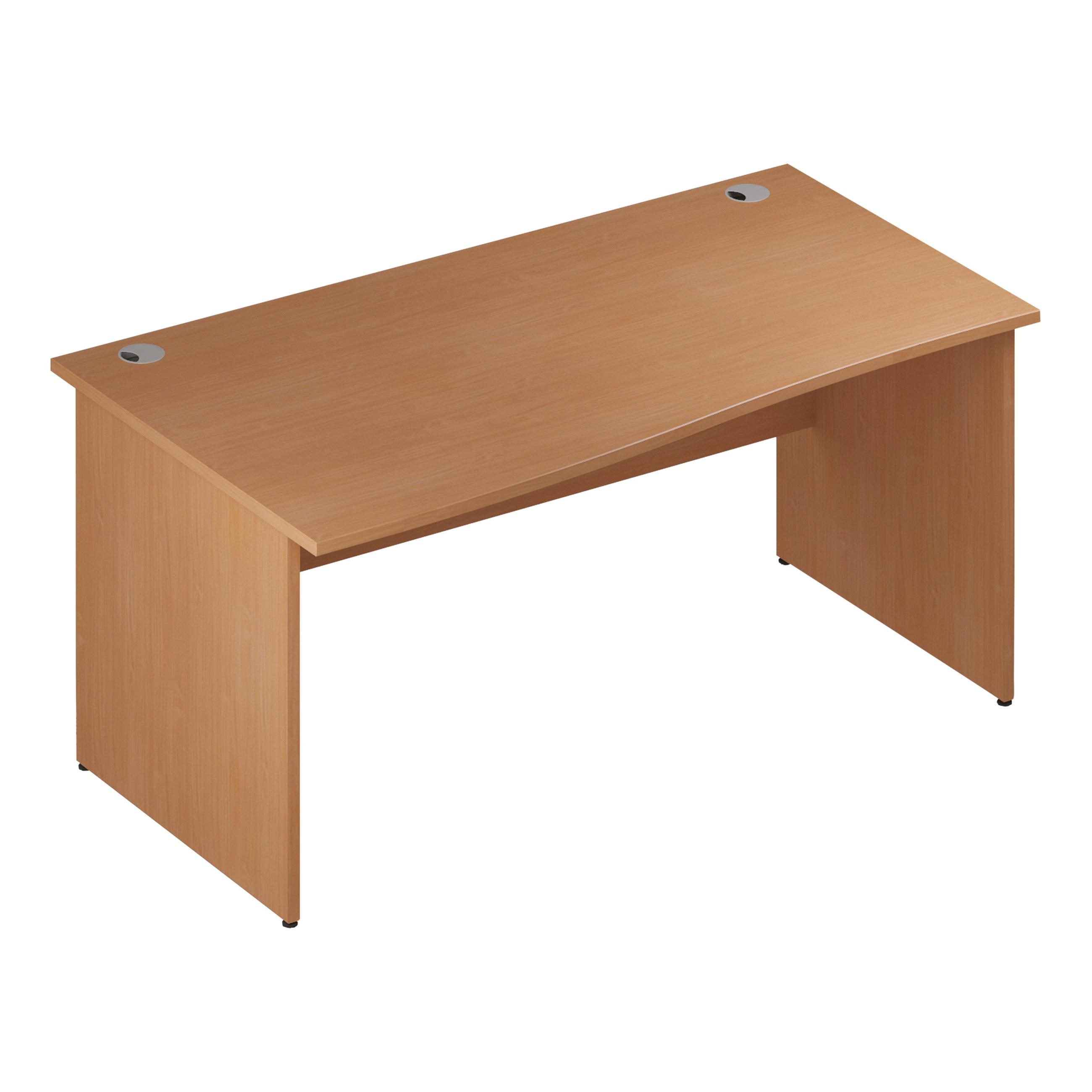 Trexus Wave Desk Left Hand Panel Leg 1600/1000mm Beech Ref I000377