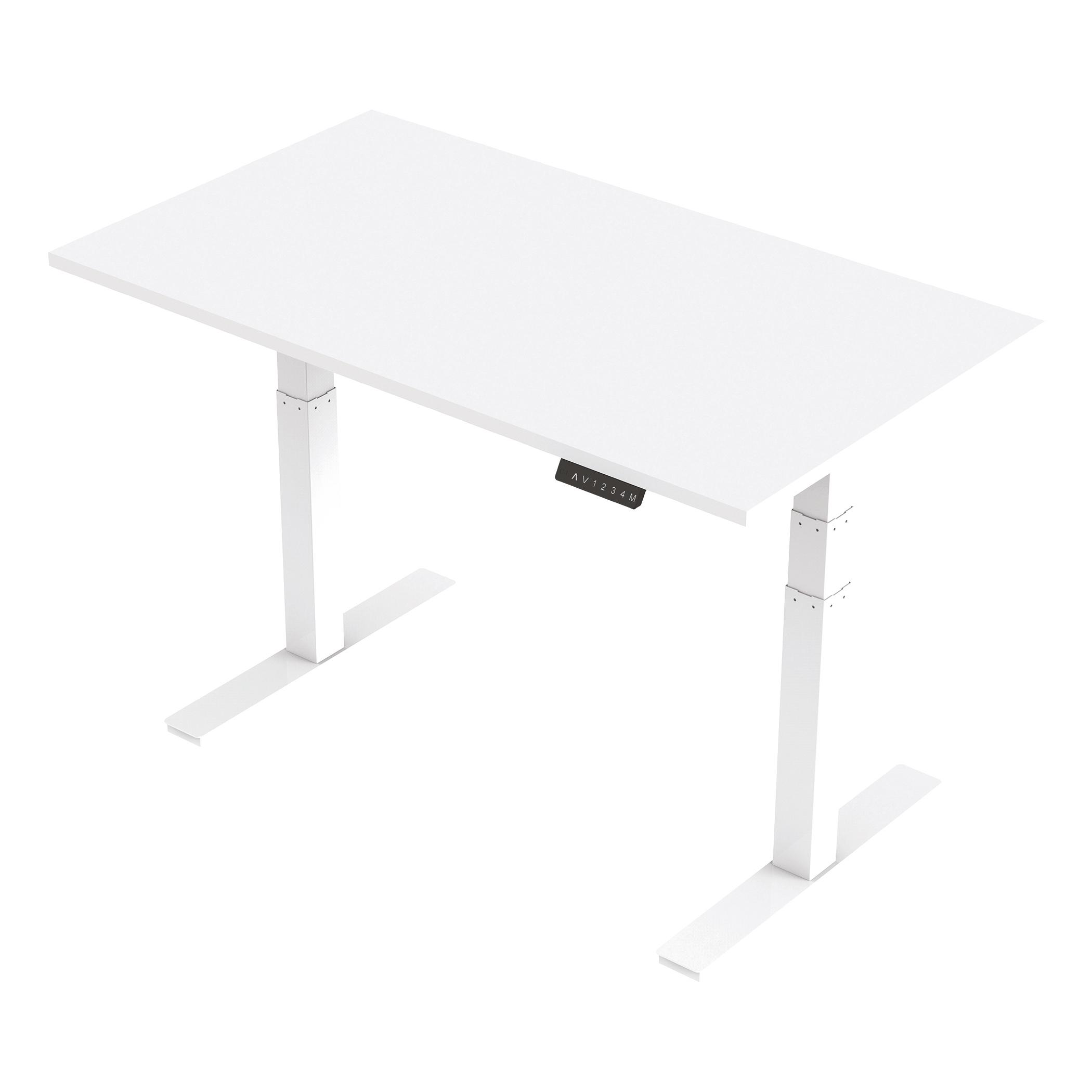 Trexus Sit Stand Desk Height-adjustable White Leg Frame 1400/800mm White Ref HA01030