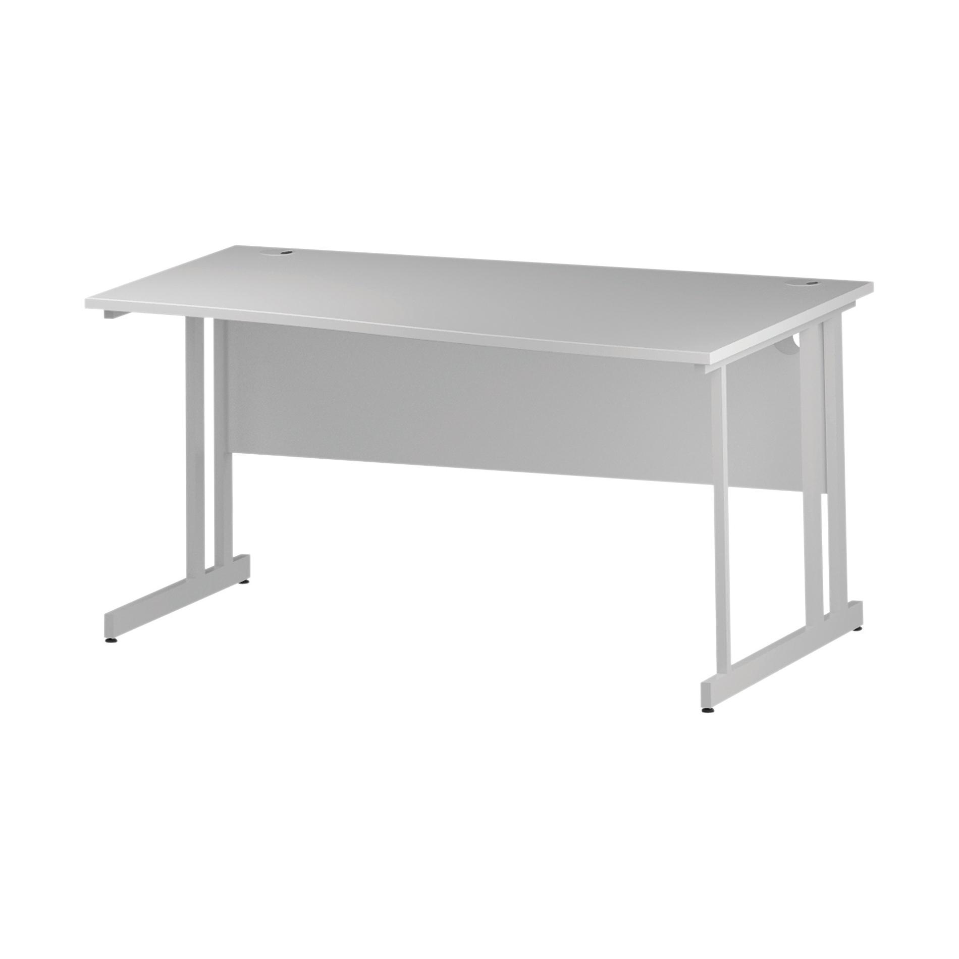Trexus Wave Desk Right Hand White Cantilever Leg 1600mm White Ref I002344