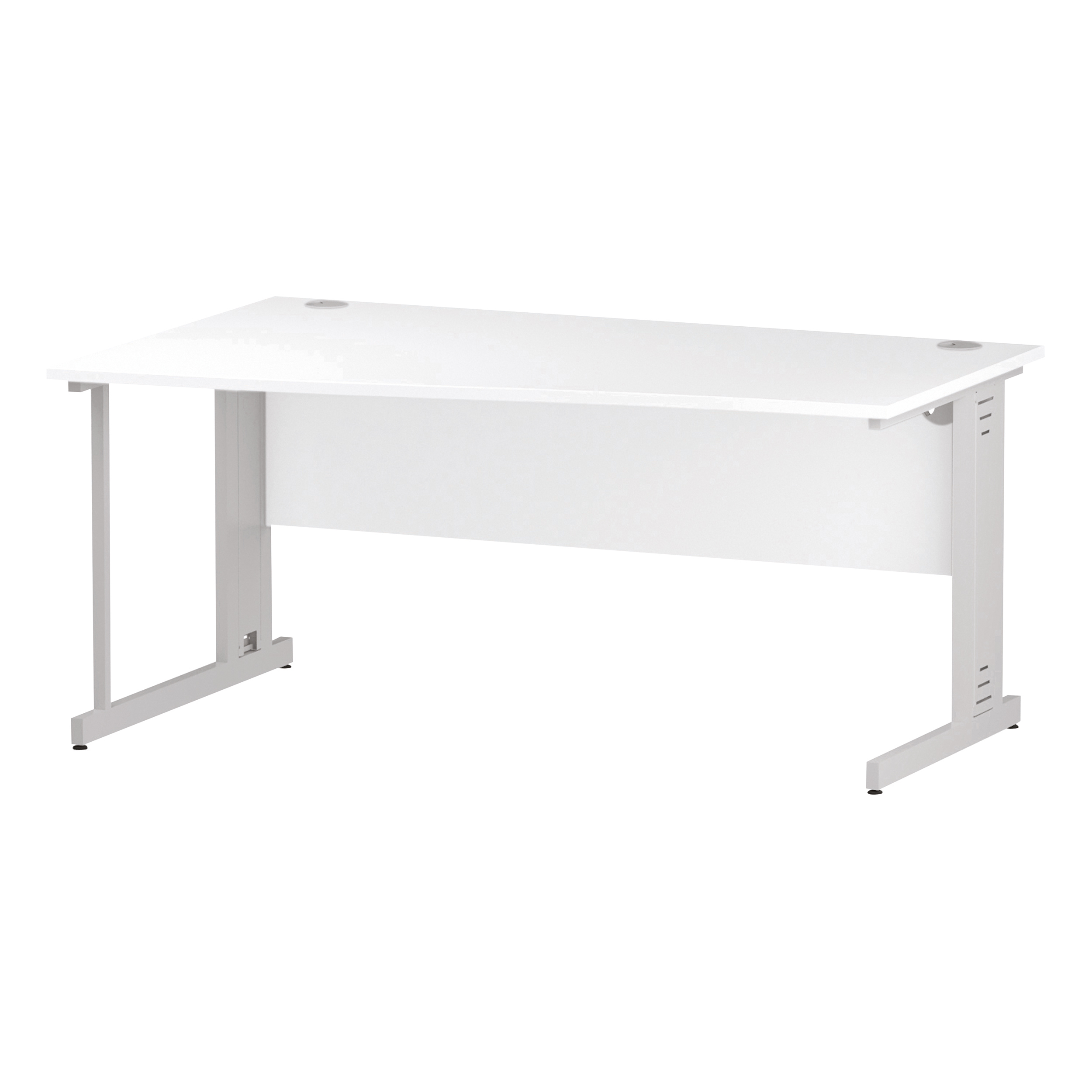 Trexus Wave Desk Left Hand White Cable Managed Leg 1600mm White Ref I002347