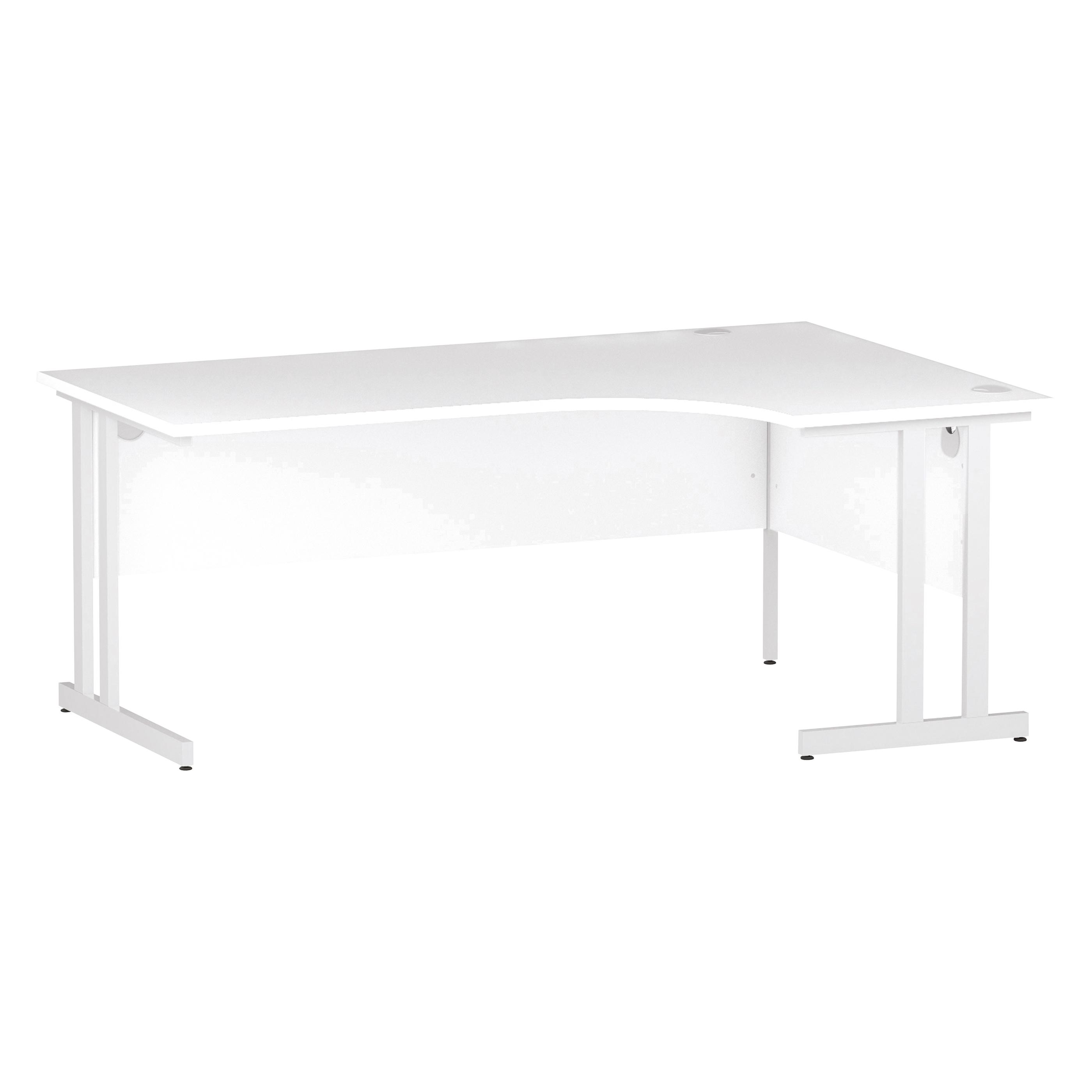 Trexus Radial Desk Right Hand White Cantilever Leg 1800mm White Ref I002395