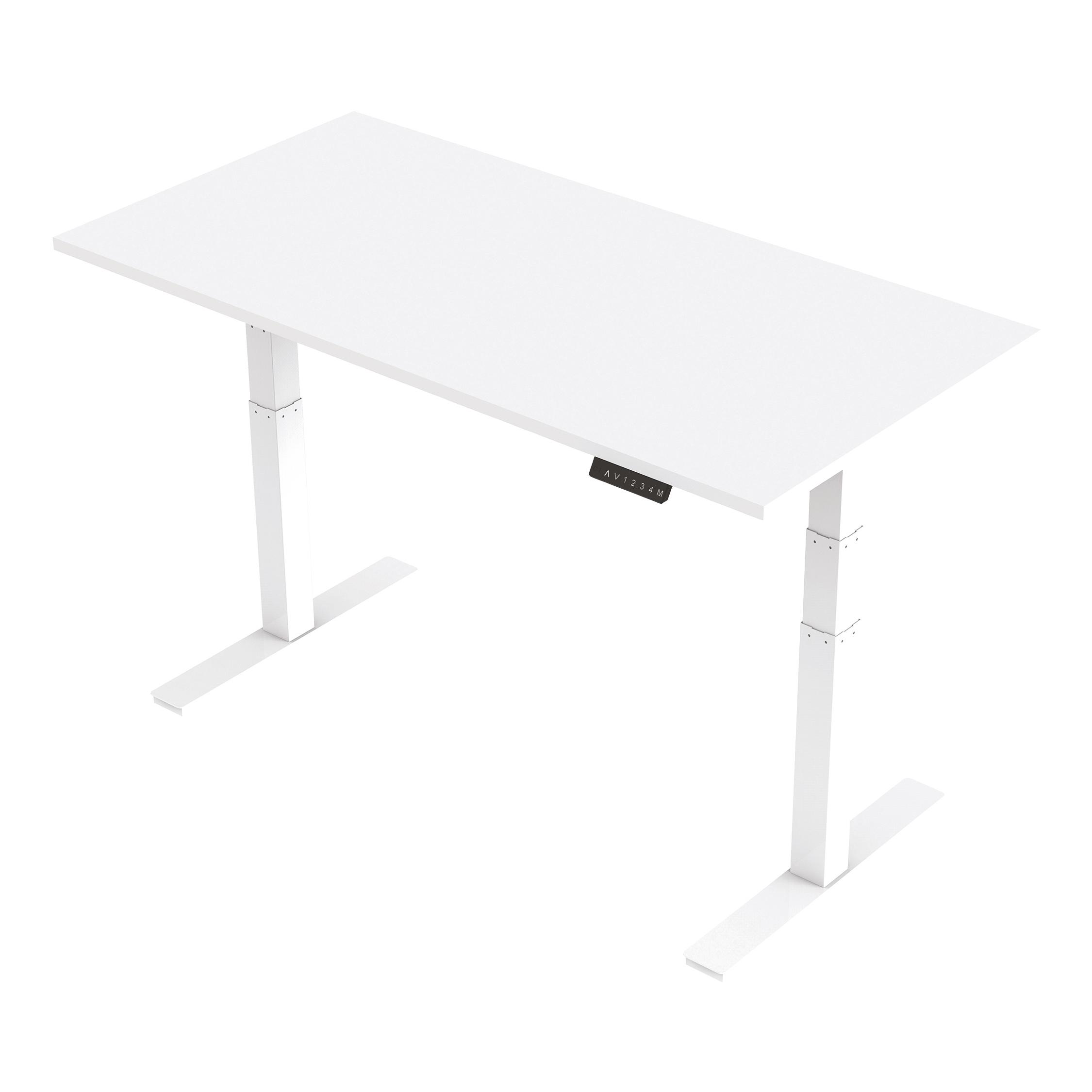 Trexus Sit Stand Desk Height-adjustable White Leg Frame 1600/800mm White Ref HA01031