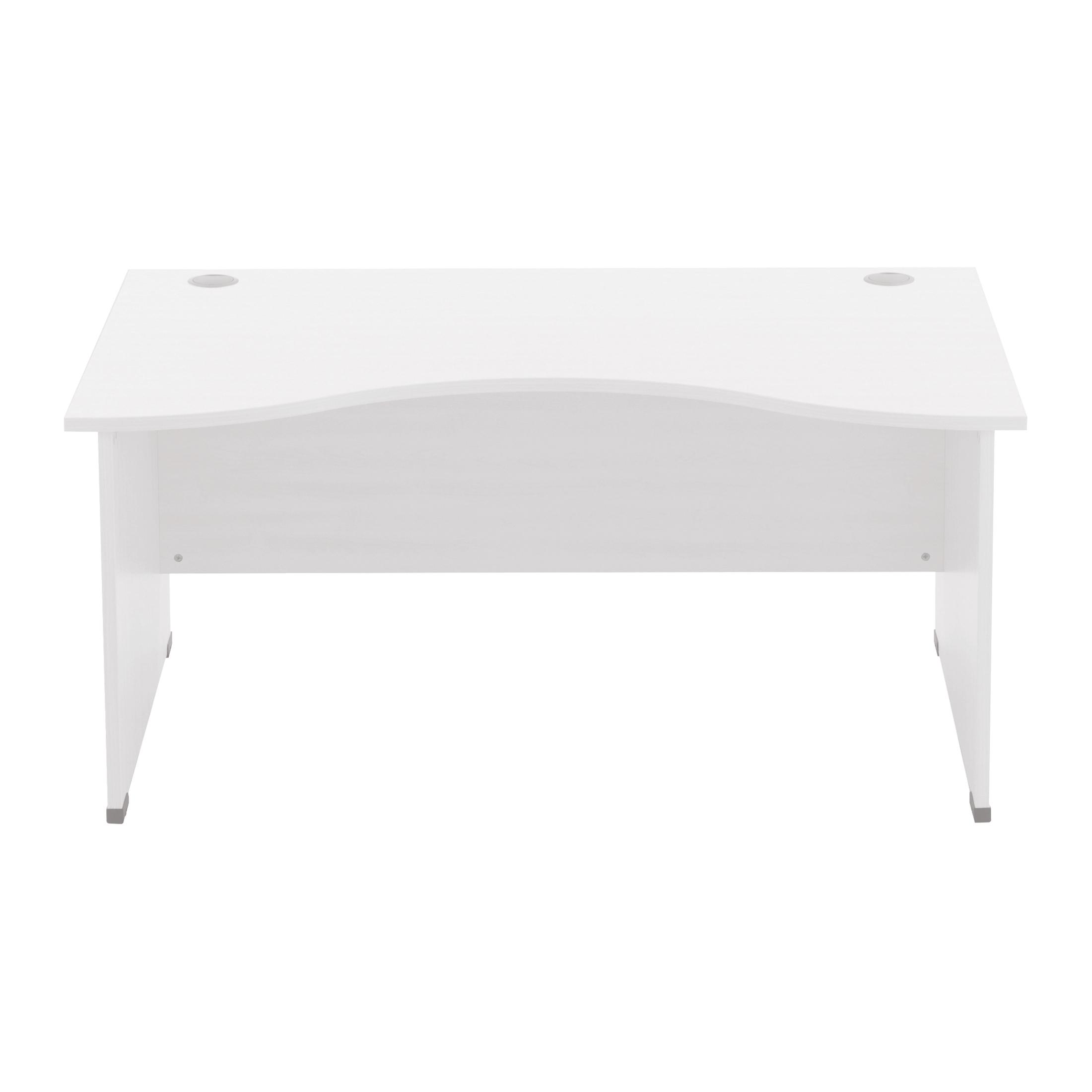 Sonix Double Wave Desk Panel End Legs 1600/1000mm Polar White Ref W9409wh