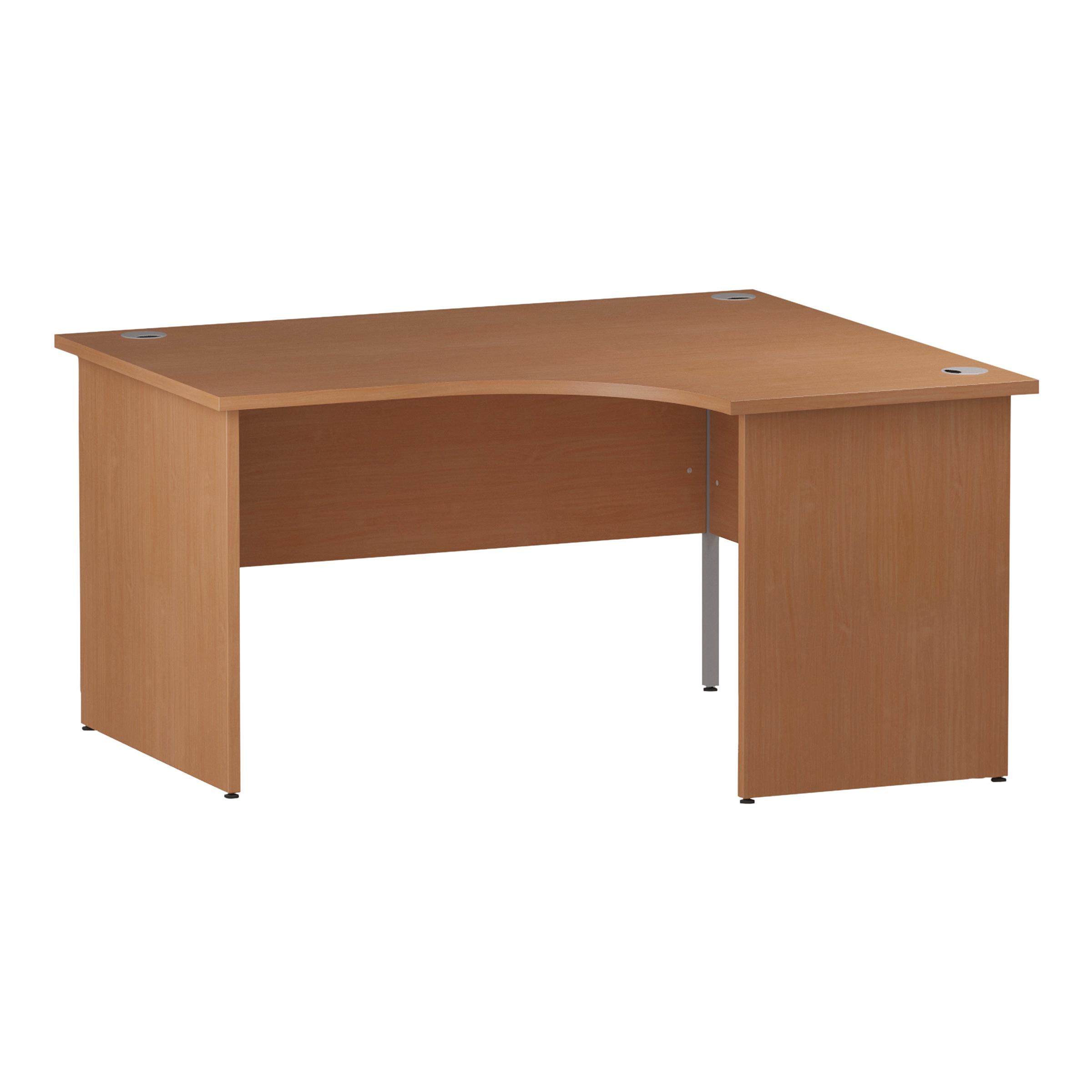 Trexus Radial Desk Right Hand Panel End Leg 1600/1200mm Beech Ref I000388