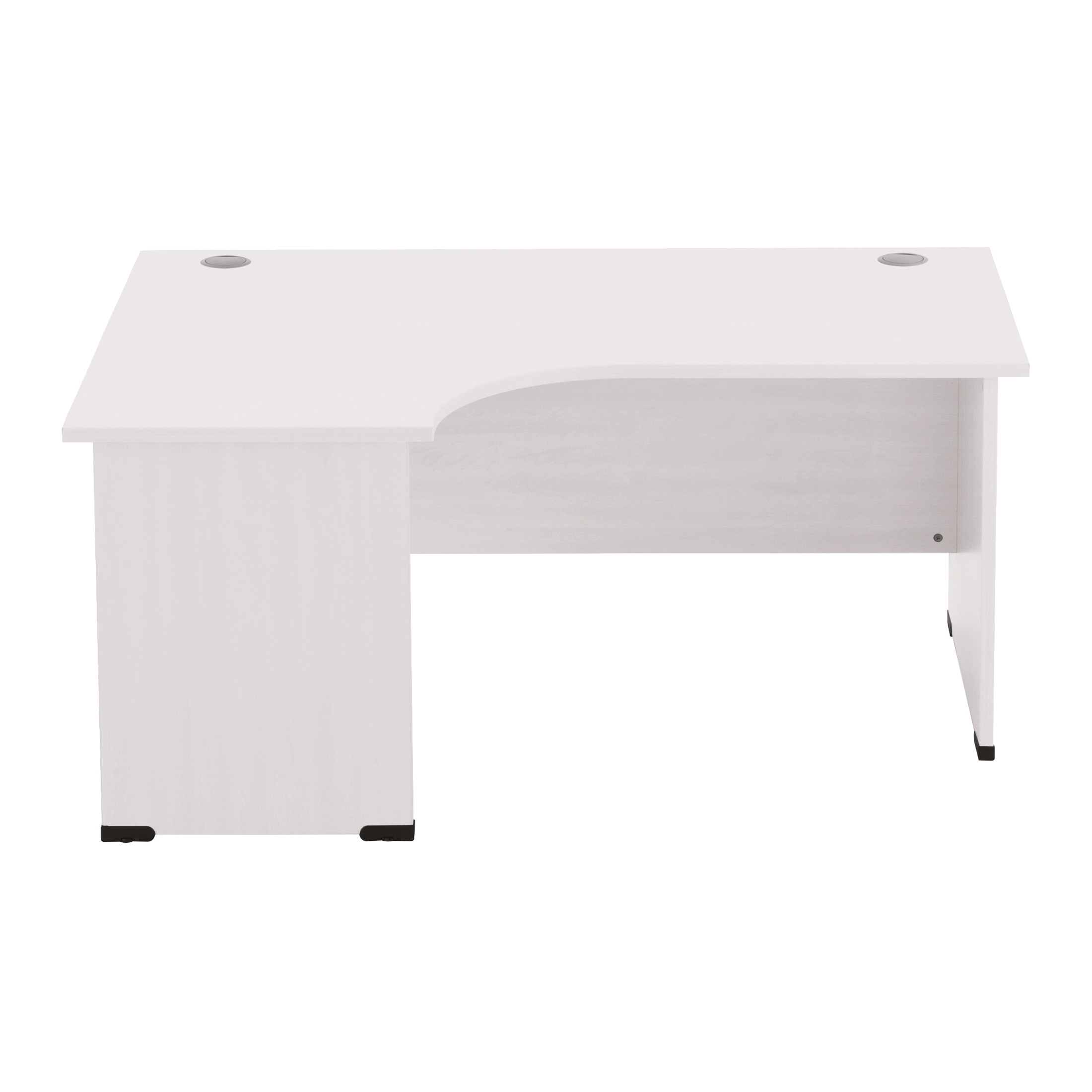 Sonix Radial Desk Left Hand Panel End Legs 1600/1170mm Polar White Ref w9410lwh