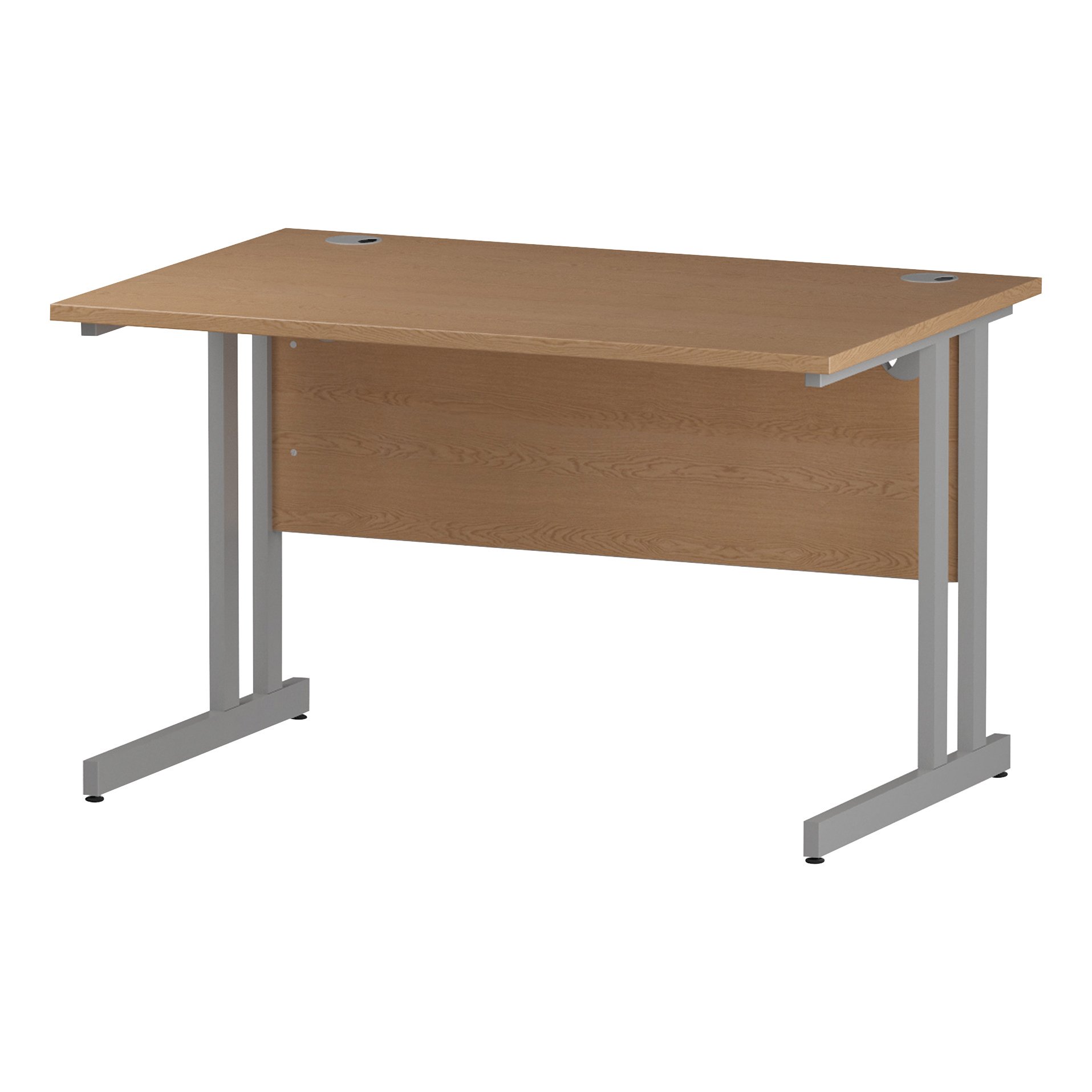 Trexus Rectangular Desk Silver Cantilever Leg 1200x800mm Oak Ref I000806