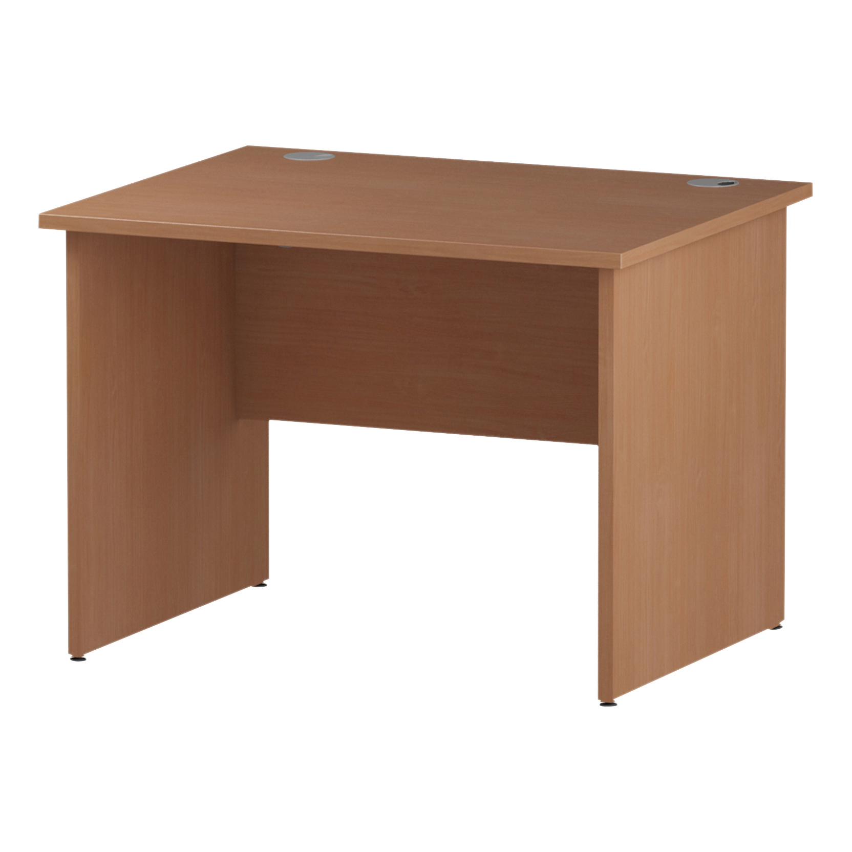 Trexus Rectangular Desk Panel End Leg 1000x800mm Beech Ref I000370