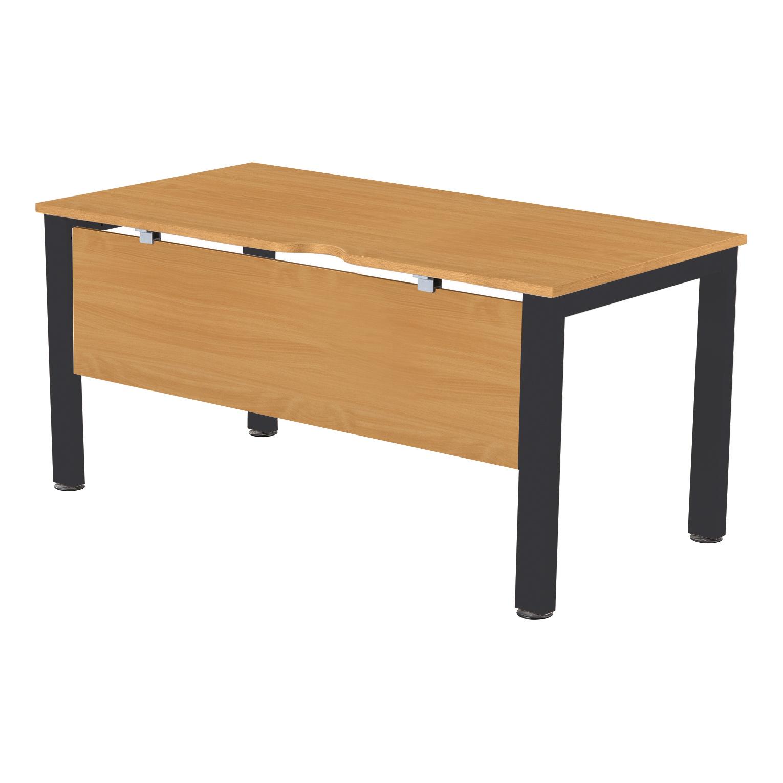 Desks Sonix Standalone Desk Black Legs 1400x800mm Rich Beech Ref fbcsmw14-1bbk