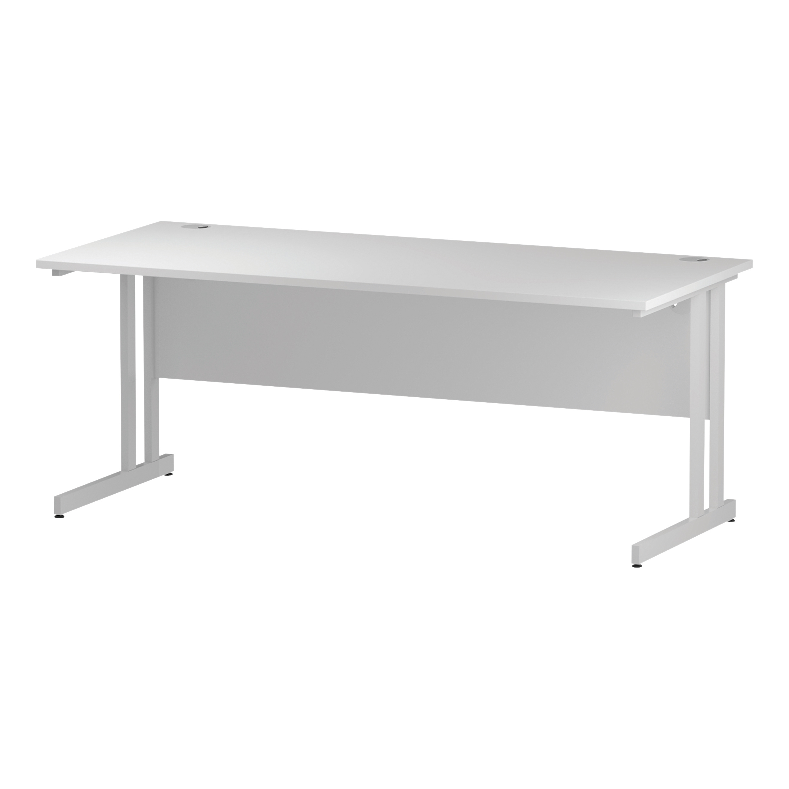 Trexus Rectangular Desk White Cantilever Leg 1800x800mm White Ref I002194