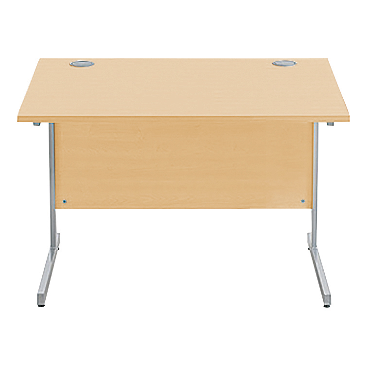 Desks Sonix Rectangular Desk Silver Cantilever Leg 1000x800mm Acer Maple Ref w9690m