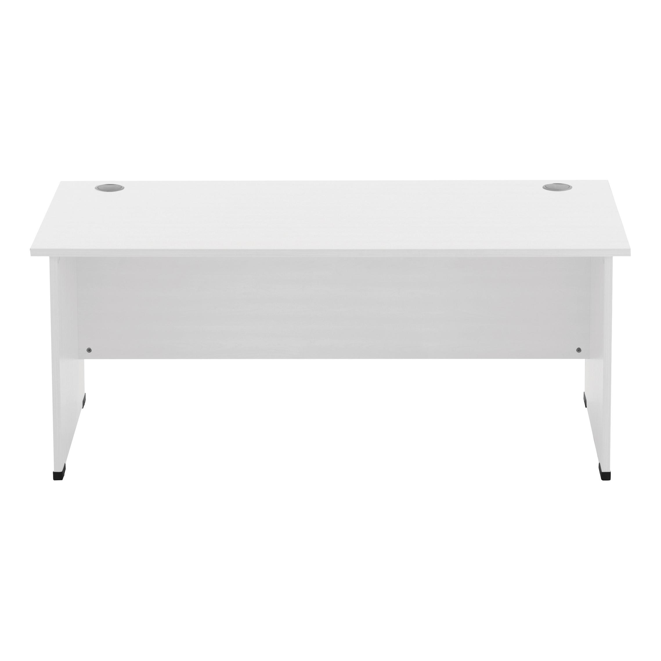 Desks Sonix Rectangular Desk Panel End Leg 1800x800mm Polar White Ref w9405wh