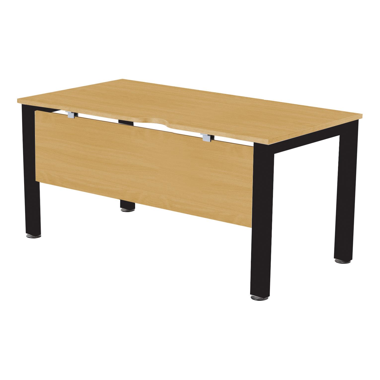 Desks Sonix Standalone Desk Black Legs 1400x800mm Natural Oak Ref fbcsmw14-1obk