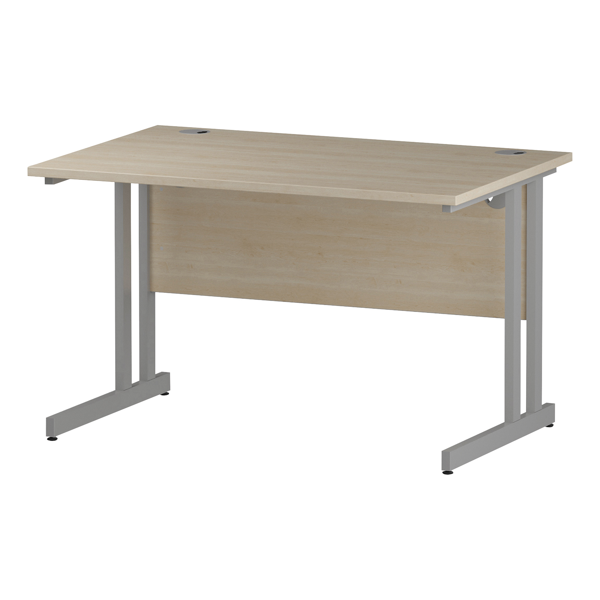 Trexus Rectangular Desk Cantilever Leg 1200mm Maple