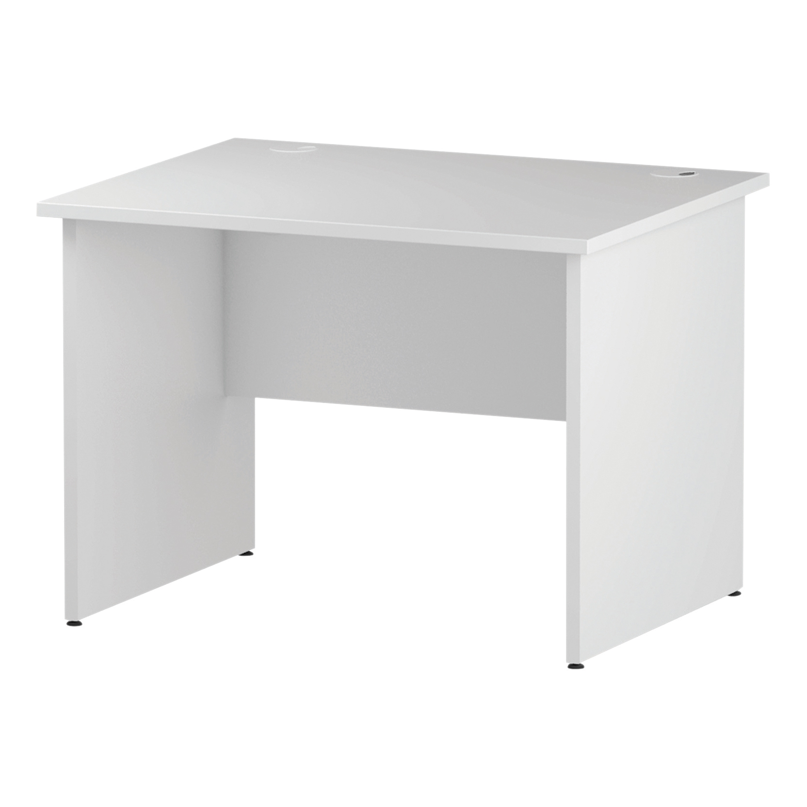 Trexus Rectangular Desk Panel End Leg 1000x800mm White Ref I000392