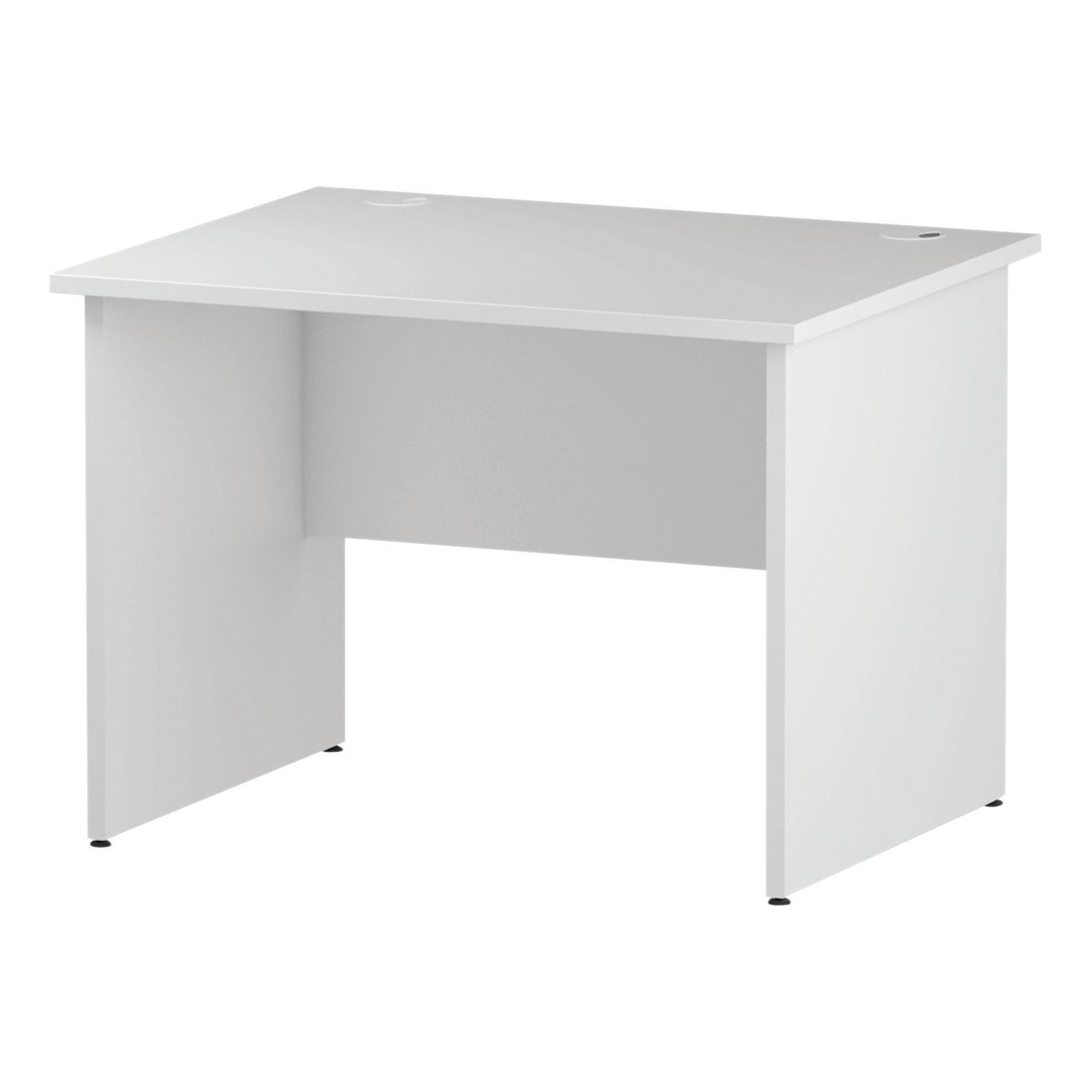 Trexus Rectangular Desk Panel End Leg 1000x800mm White Ref I000392