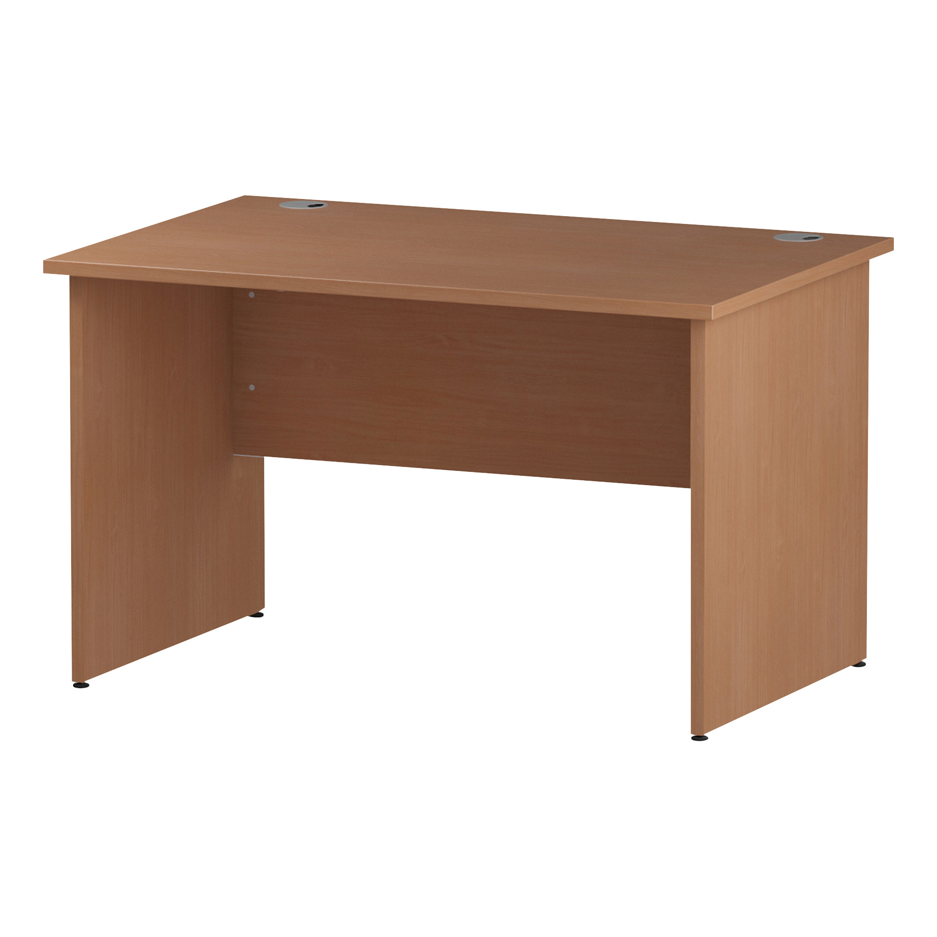 Trexus Rectangular Desk Panel End Leg 1200x800mm Beech Ref I000371