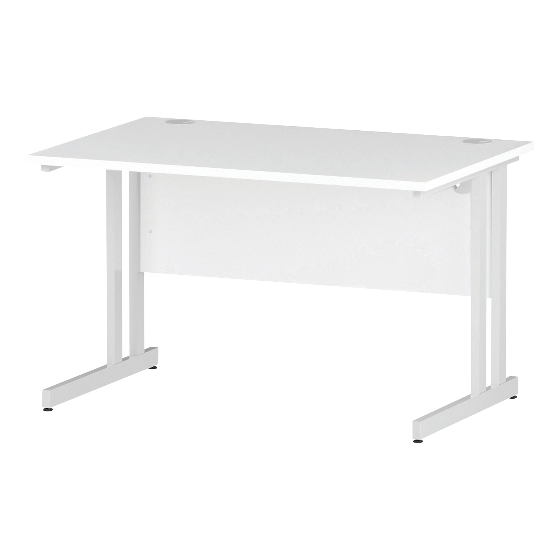 Trexus Rectangular Desk White Cantilever Leg 1200x800mm White Ref I002191