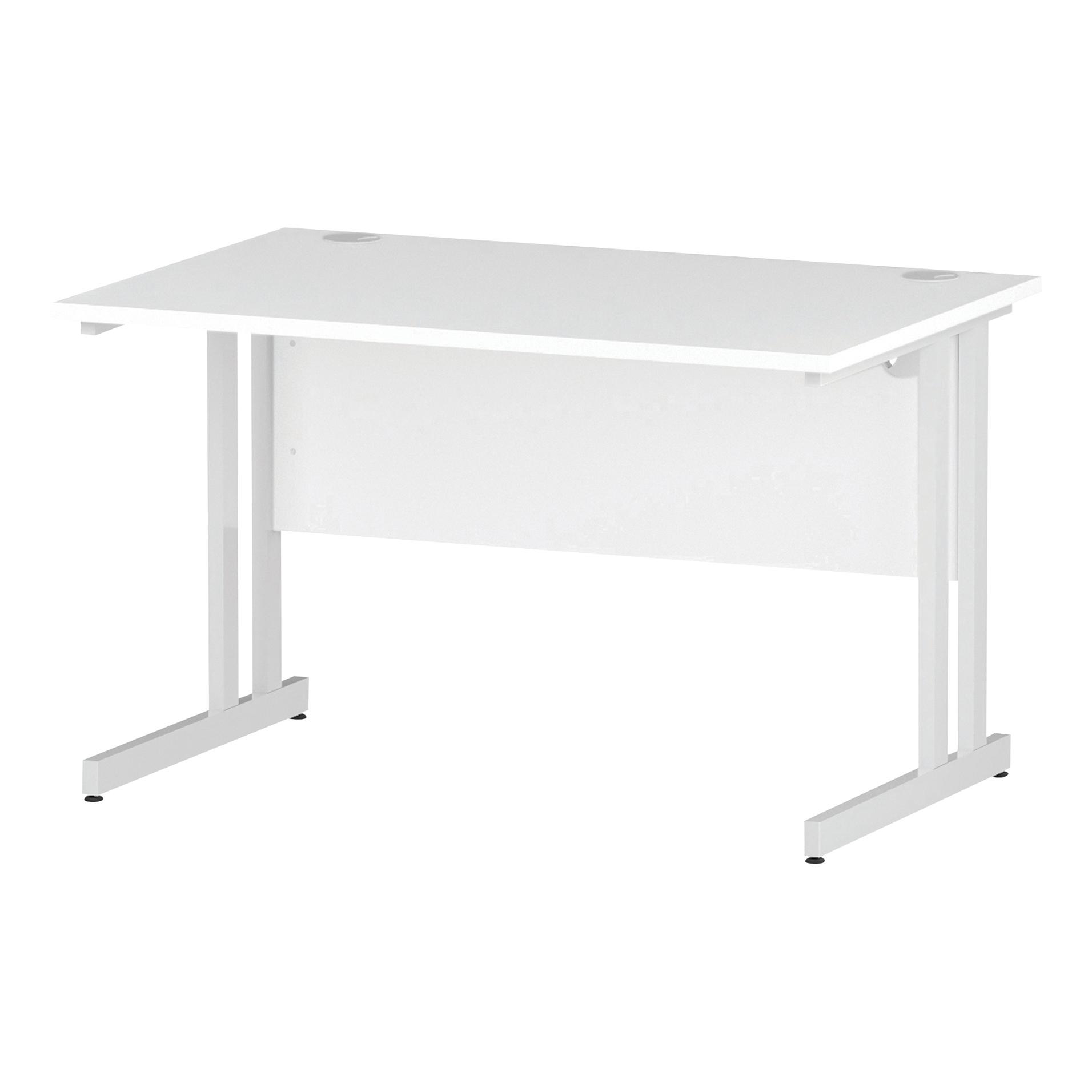 Trexus Rectangular Desk White Cantilever Leg 1200x800mm White Ref I002191