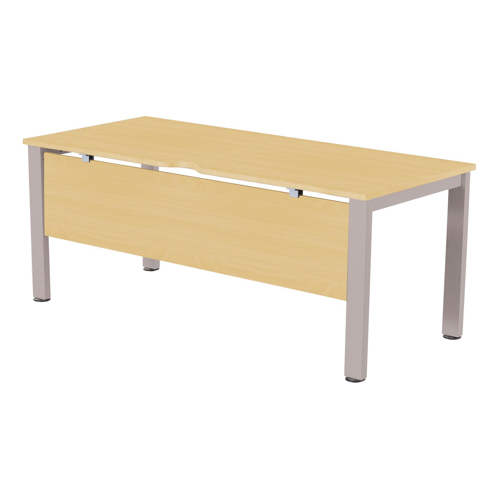 Sonix Standalone Desk Silver Legs 1600x800mm Acer Maple Ref fbcsmw16-1m