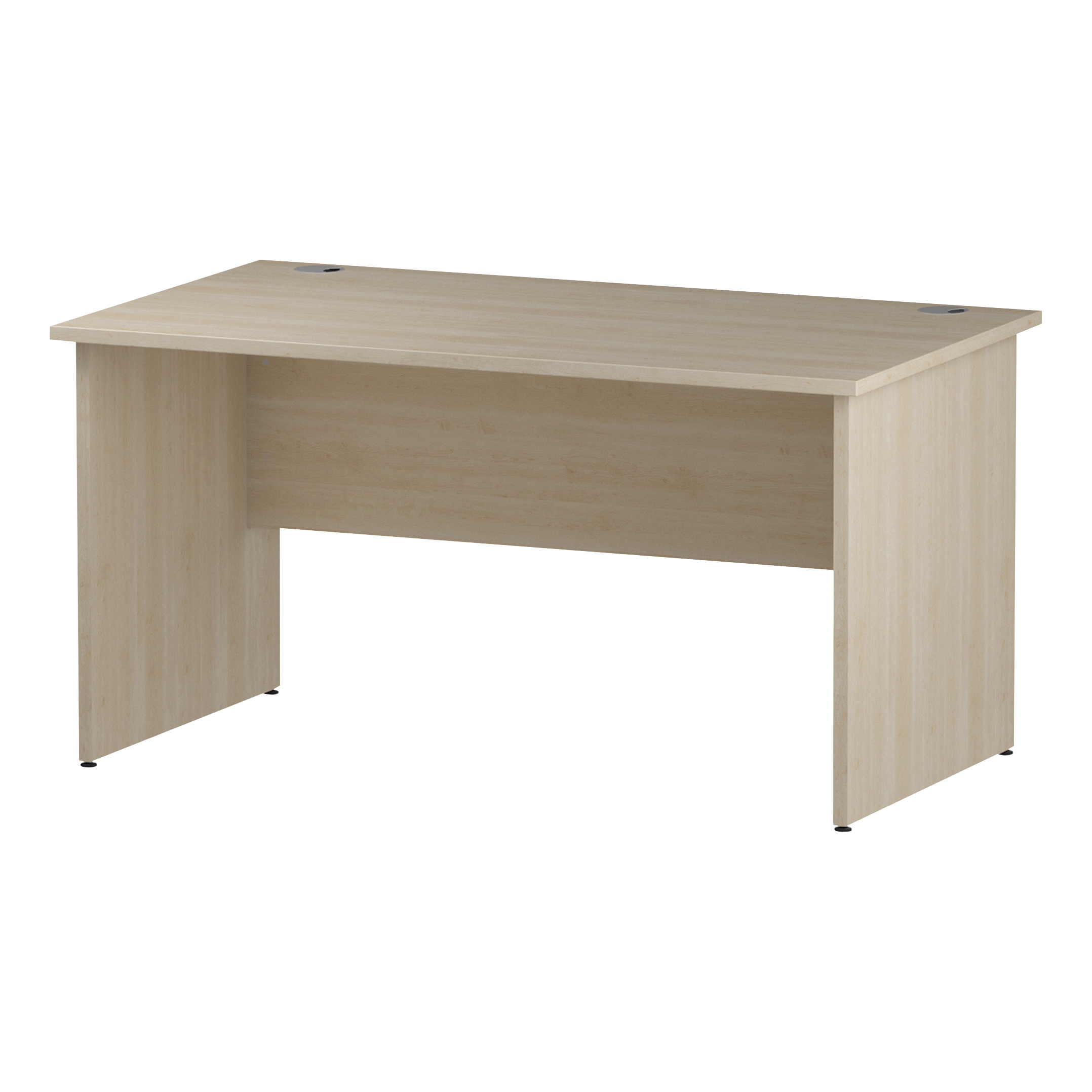 Trexus Rectangular Desk Panel End Leg 1400x800mm Maple Ref I000438