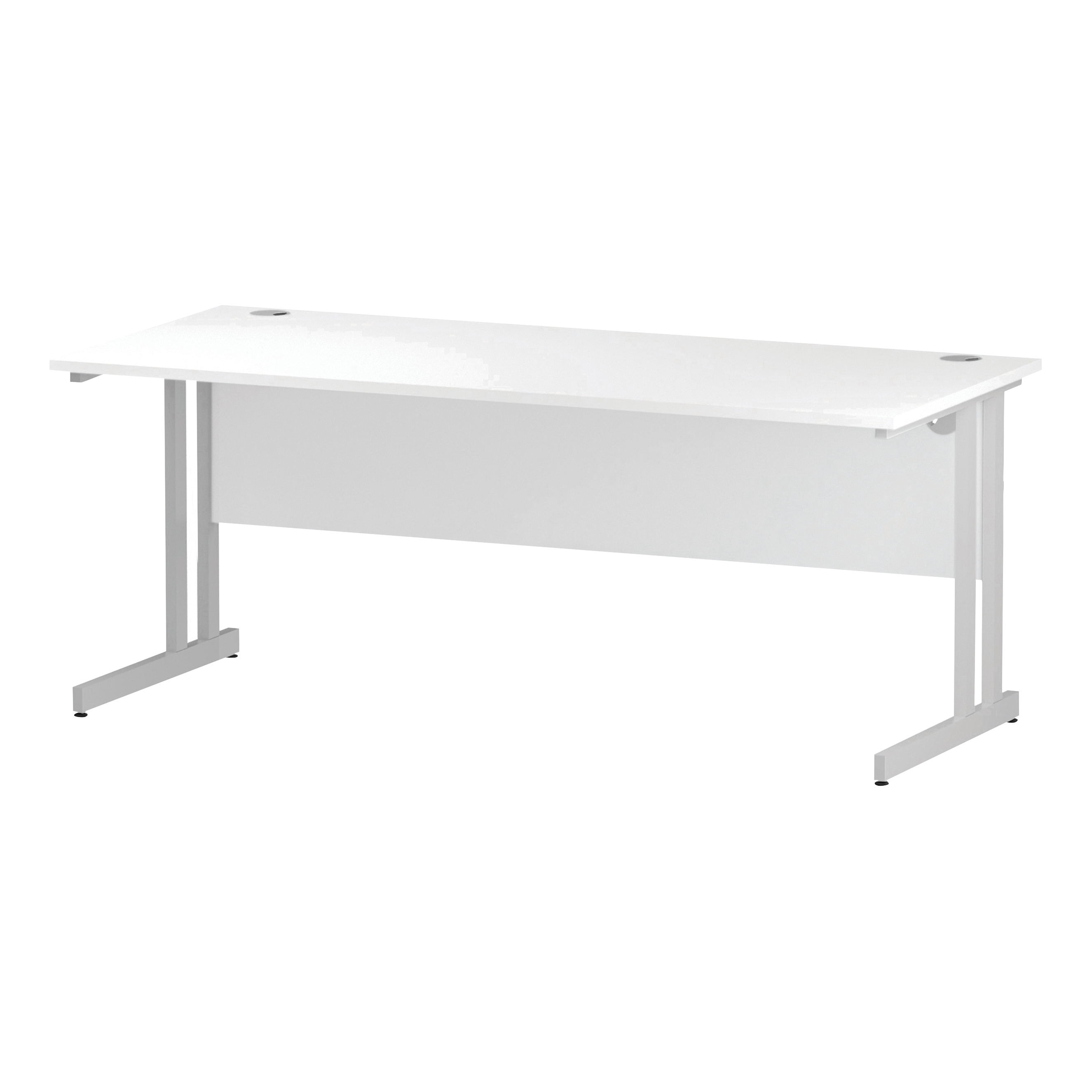Trexus Rectangular Slim Desk White Cantilever Leg 1800x600mm White Ref I002204