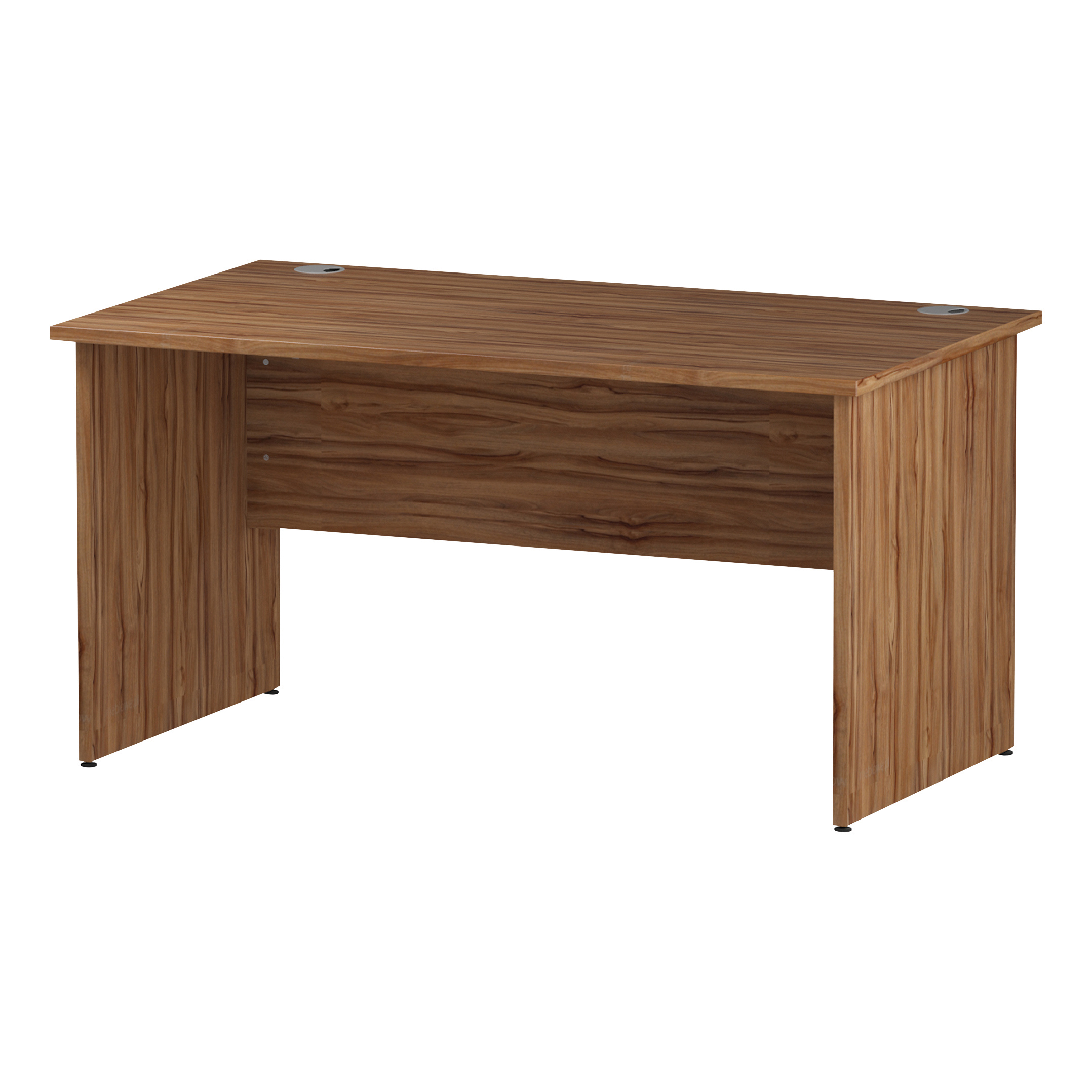 Trexus Rectangular Desk Panel End Leg 1400x800mm Walnut Ref I001961