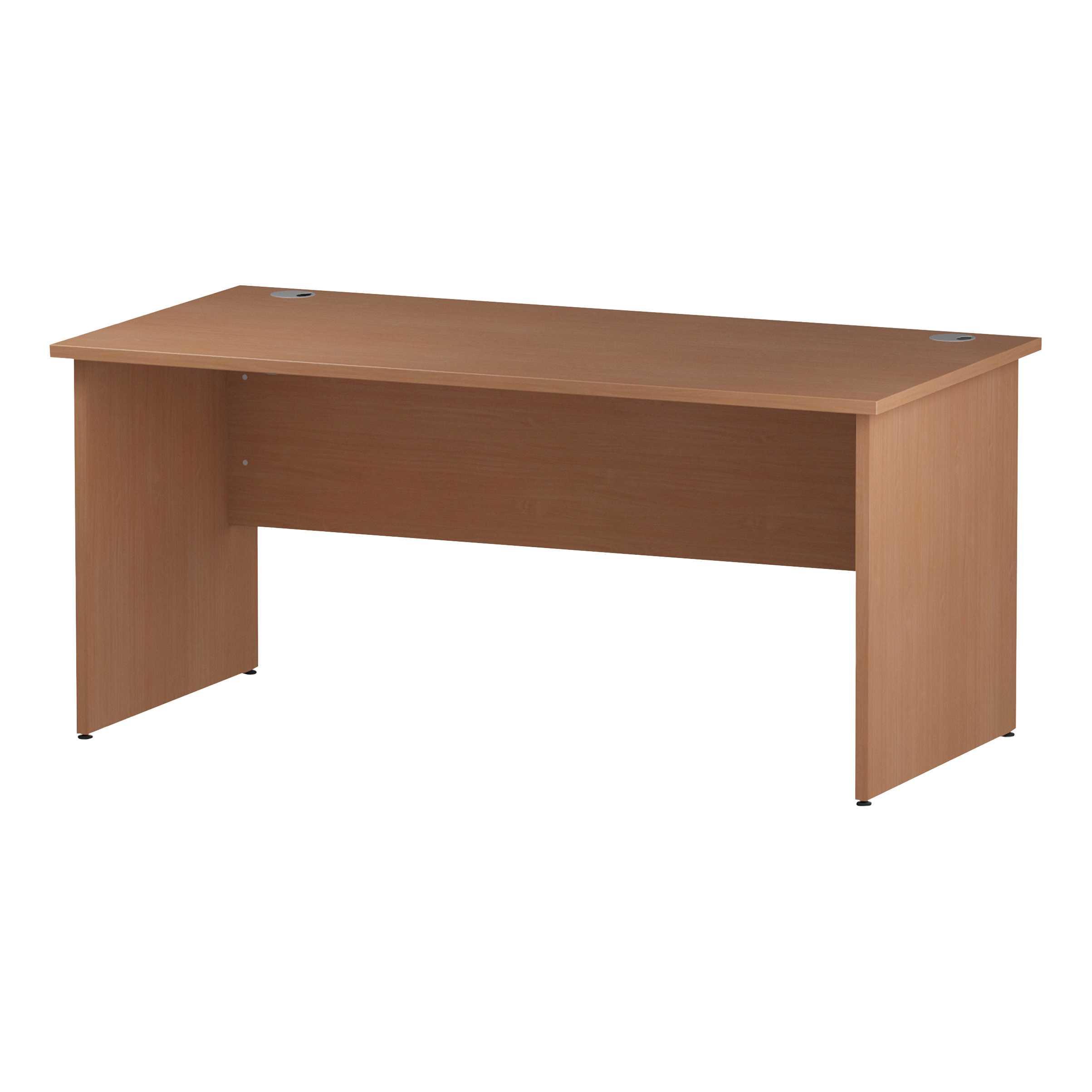 Trexus Rectangular Desk Panel End Leg 1600x800mm Beech Ref I000373