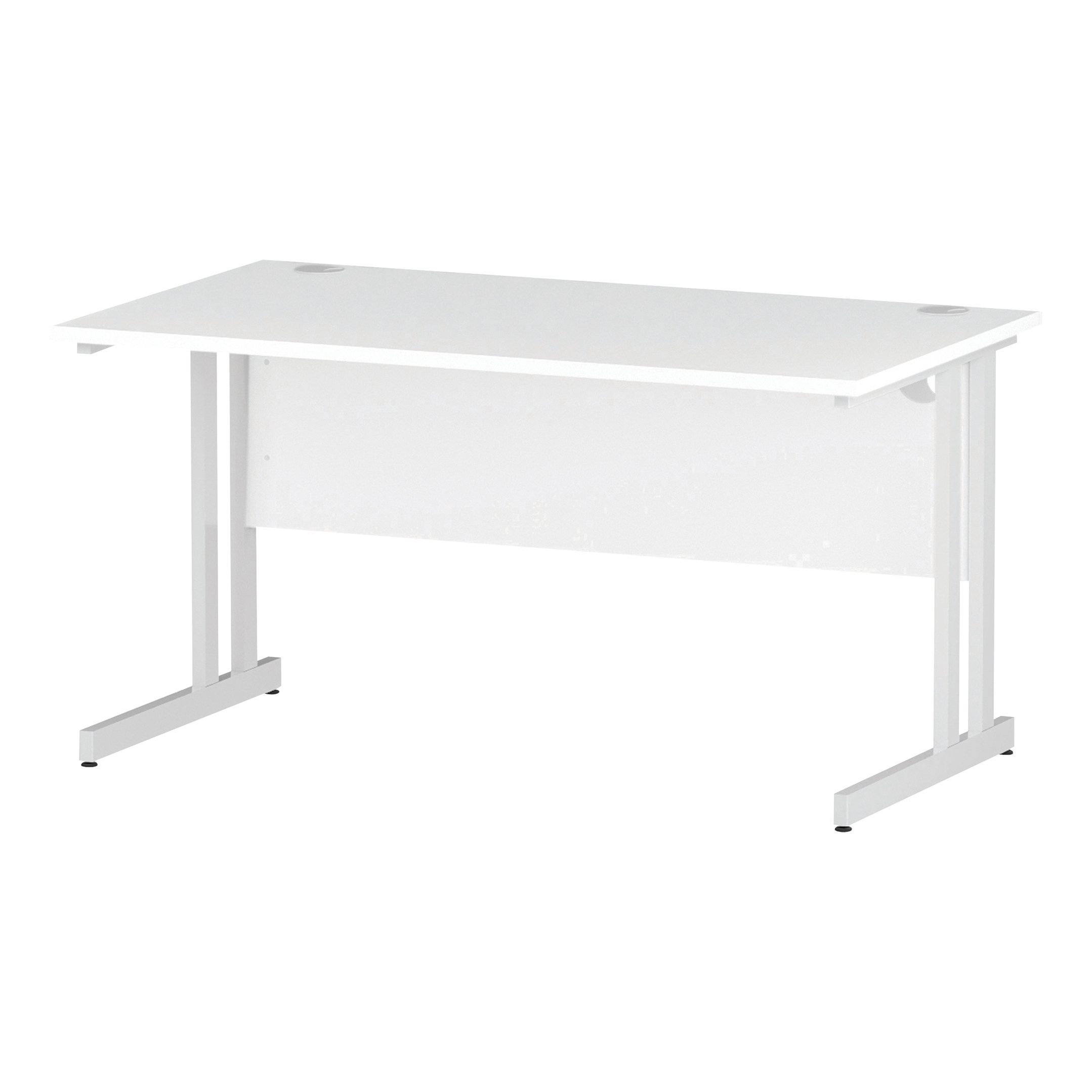 Trexus Rectangular Desk White Cantilever Leg 1400x800mm White Ref I002192