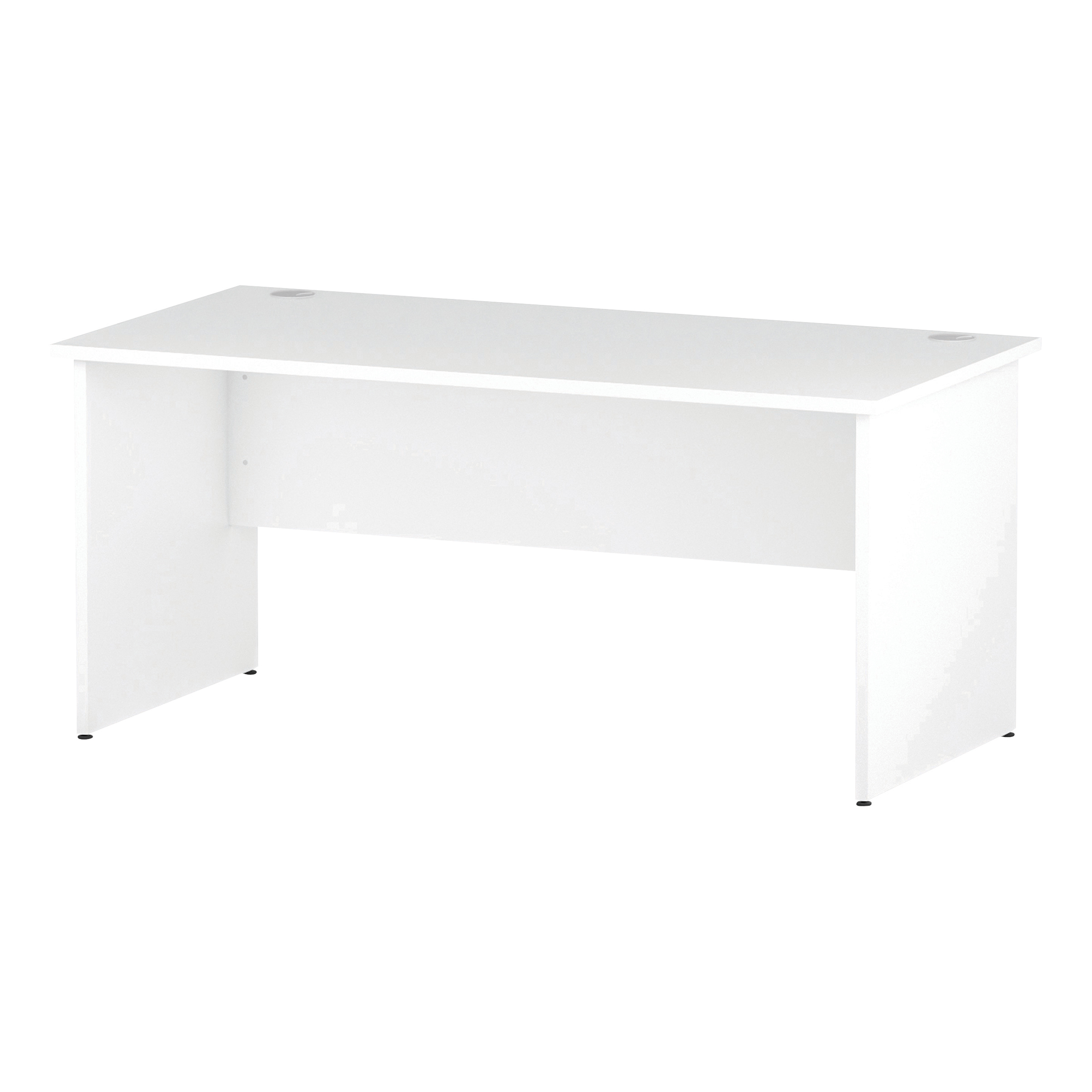 Trexus Rectangular Desk Panel End Leg 1600x800mm White Ref I000395