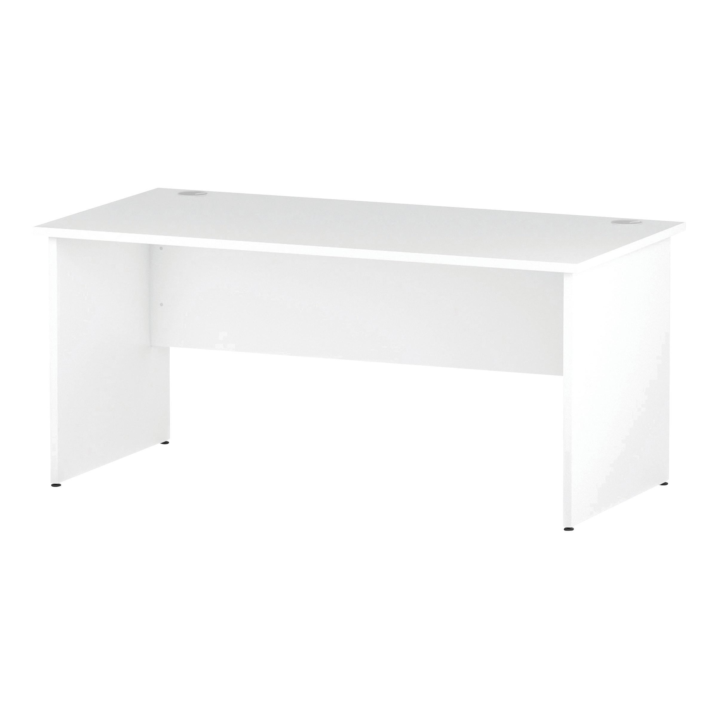 Trexus Rectangular Desk Panel End Leg 1600x800mm White Ref I000395