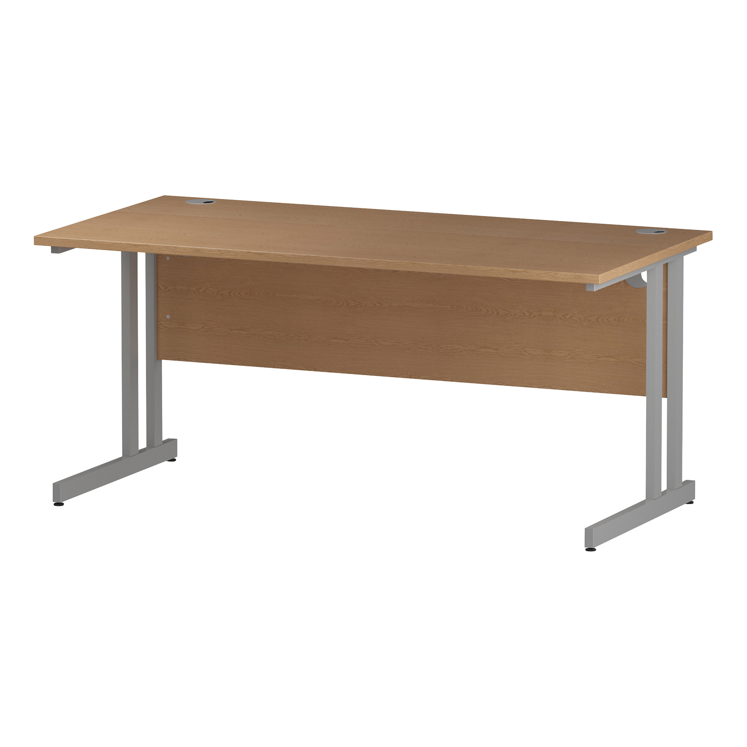Trexus Rectangular Desk Cantilever Leg 1600mm Oak