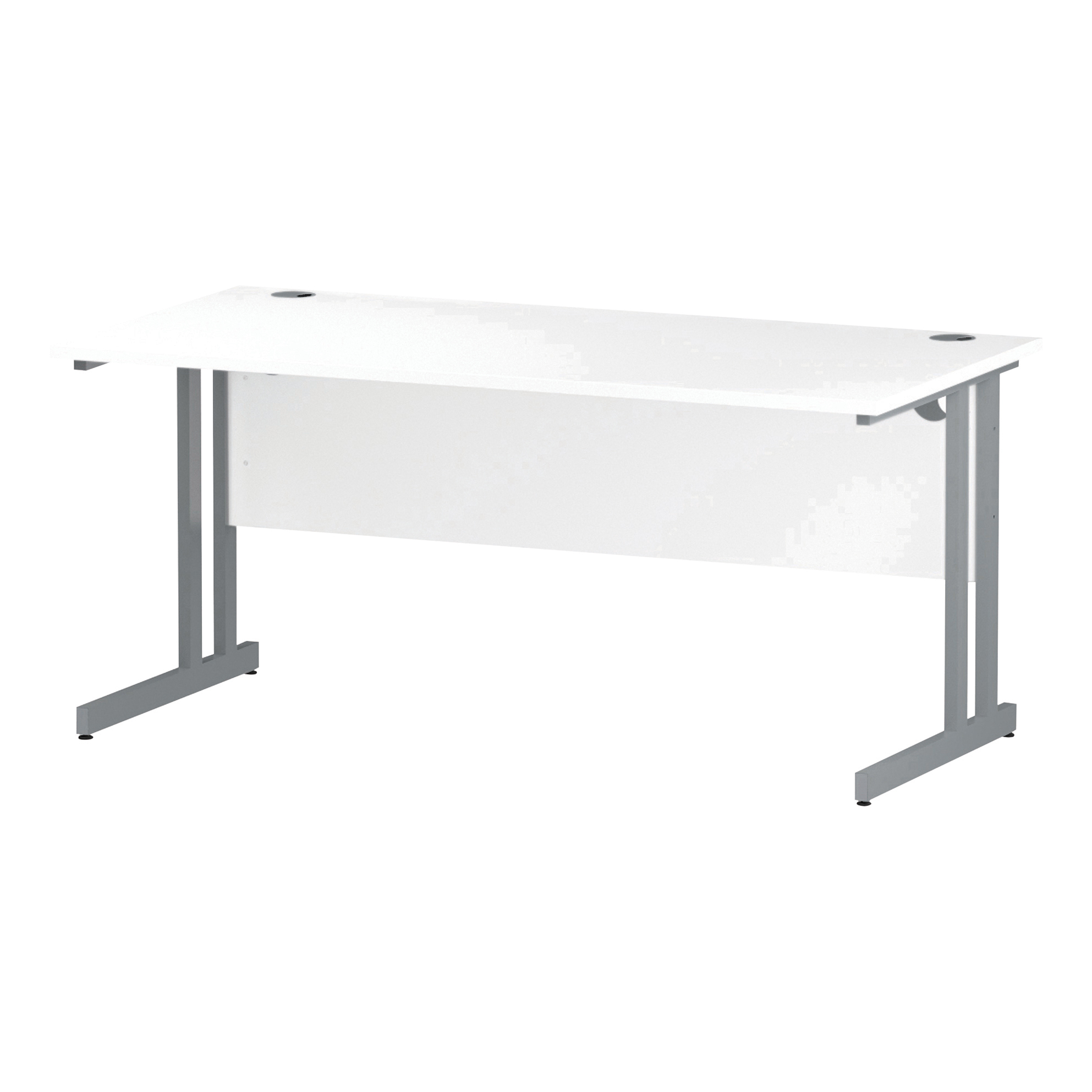 Trexus Rectangular Desk Cantilever Leg 1600mm White