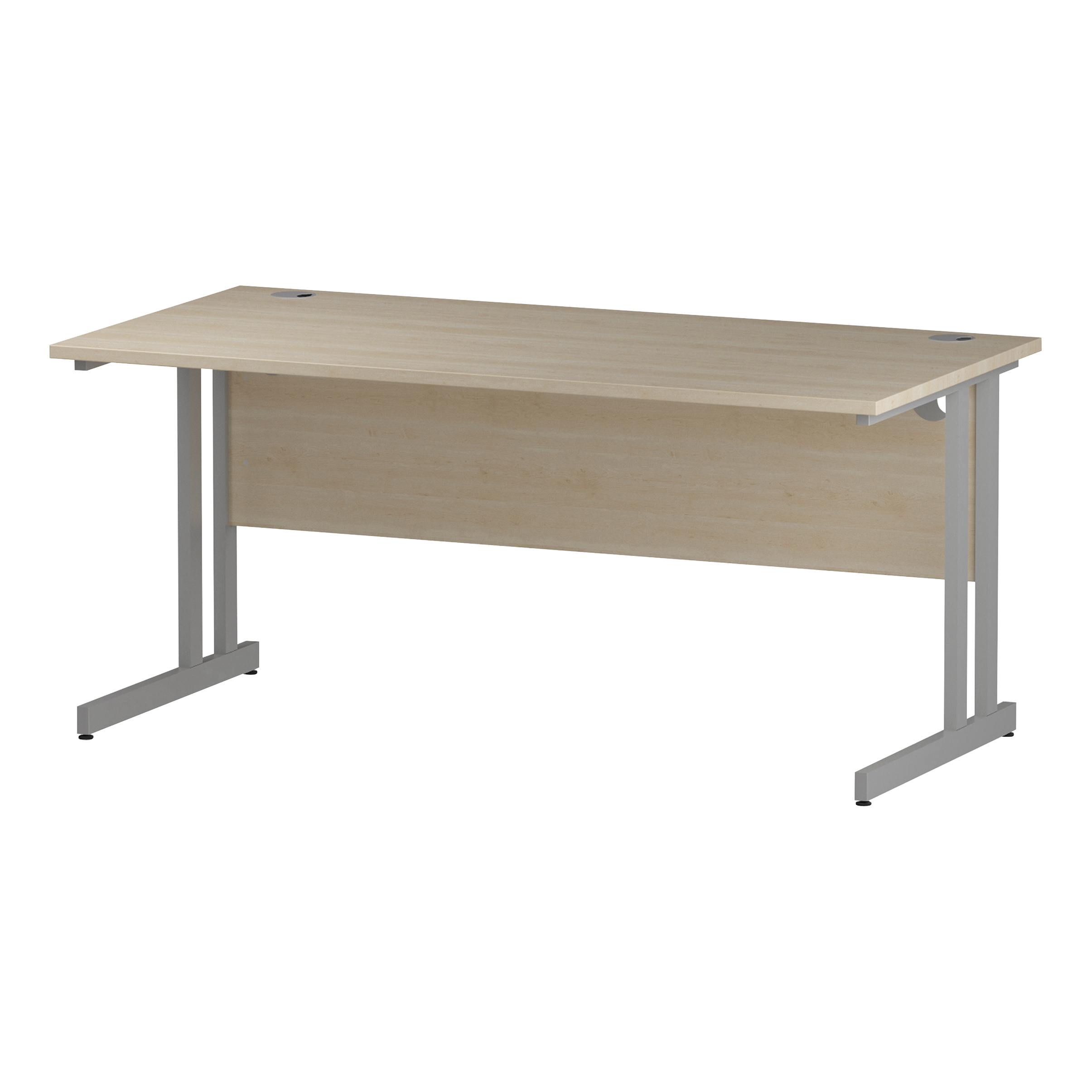 Trexus Rectangular Desk Silver Cantilever Leg 1600x800mm Maple Ref I000351