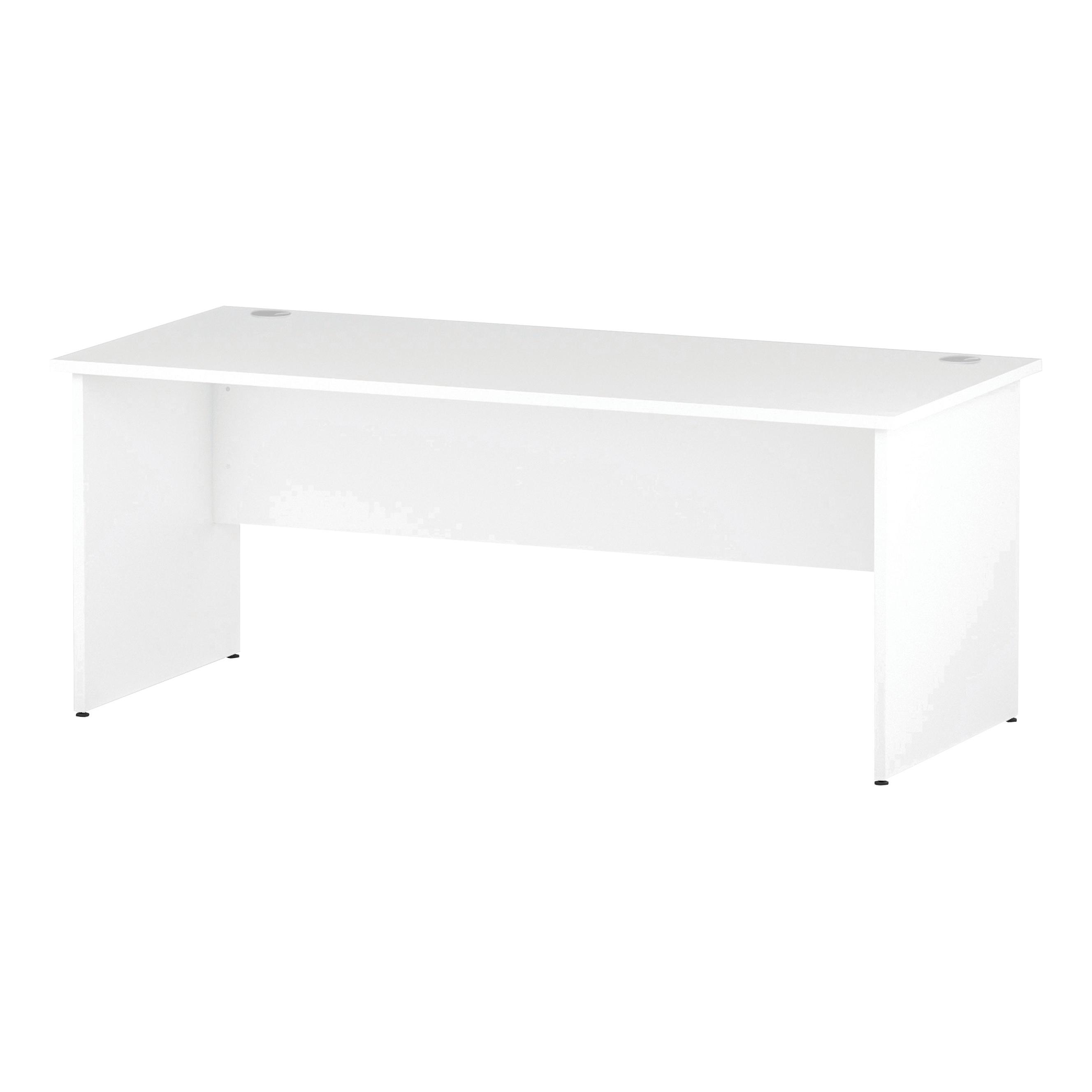 Trexus Rectangular Desk Panel End Leg 1800x800mm White Ref I000396