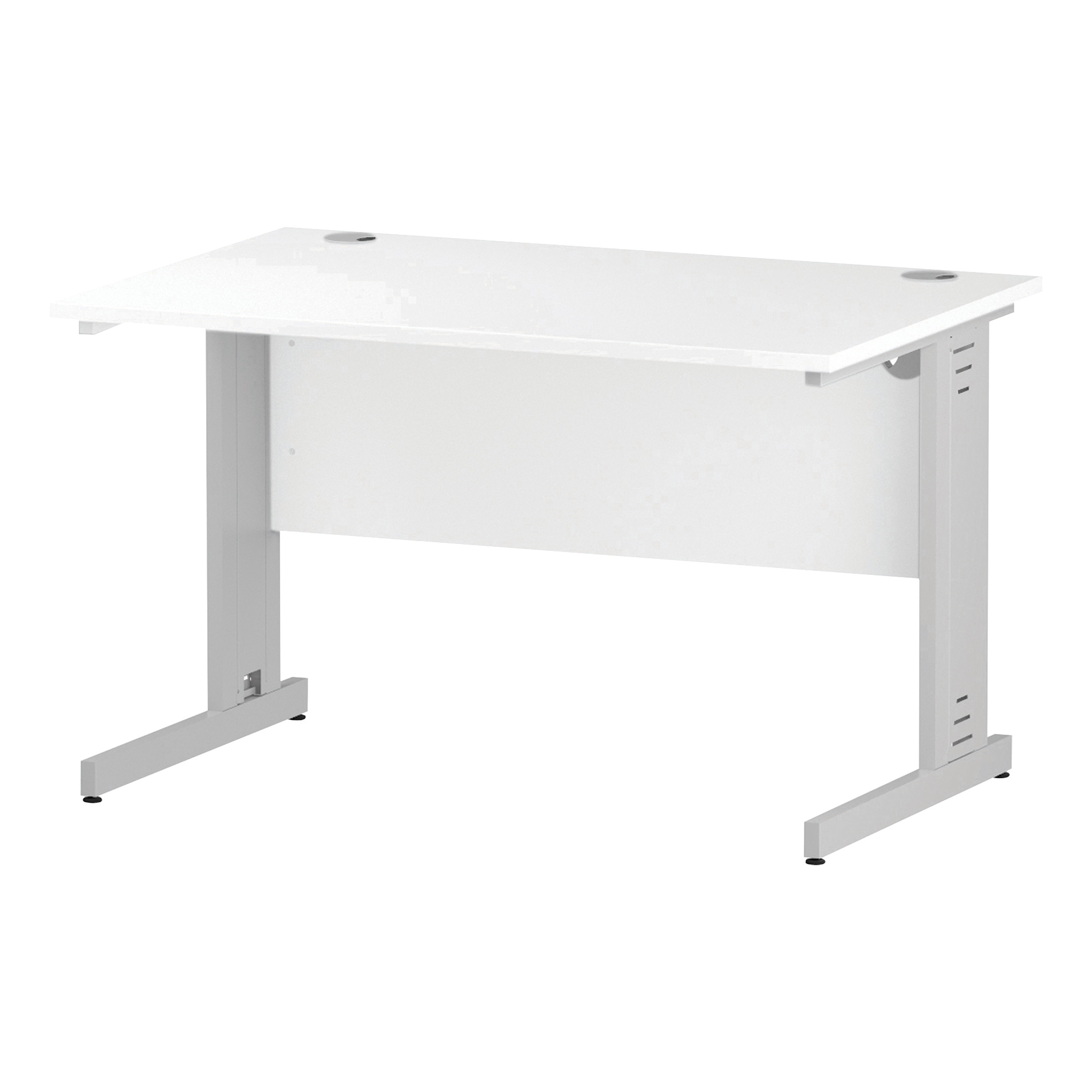 Trexus Rectangular Desk White Cable Managed Leg 1200x800mm White Ref I002271