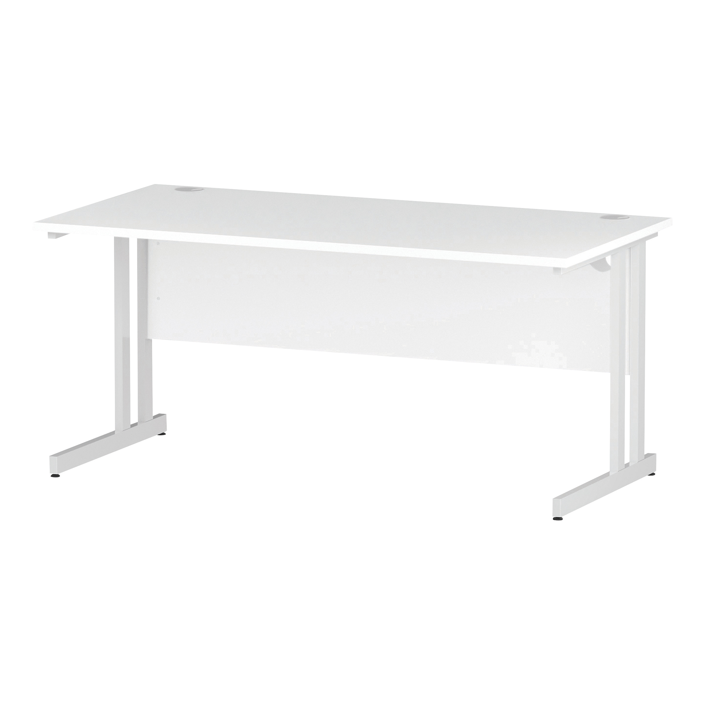 Trexus Rectangular Desk White Cantilever Leg 1600x800mm White Ref I002193