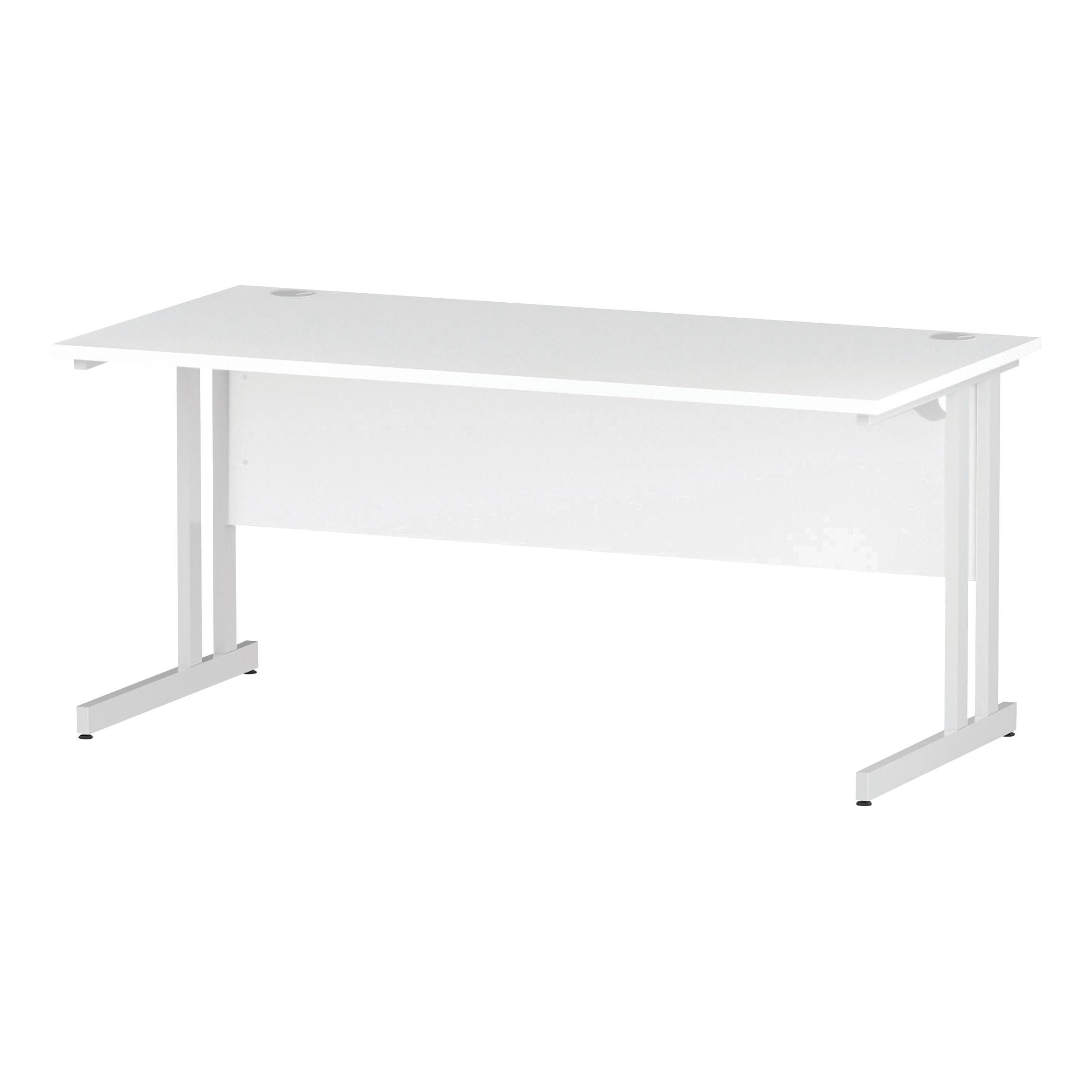 Trexus Rectangular Desk White Cantilever Leg 1600x800mm White Ref I002193