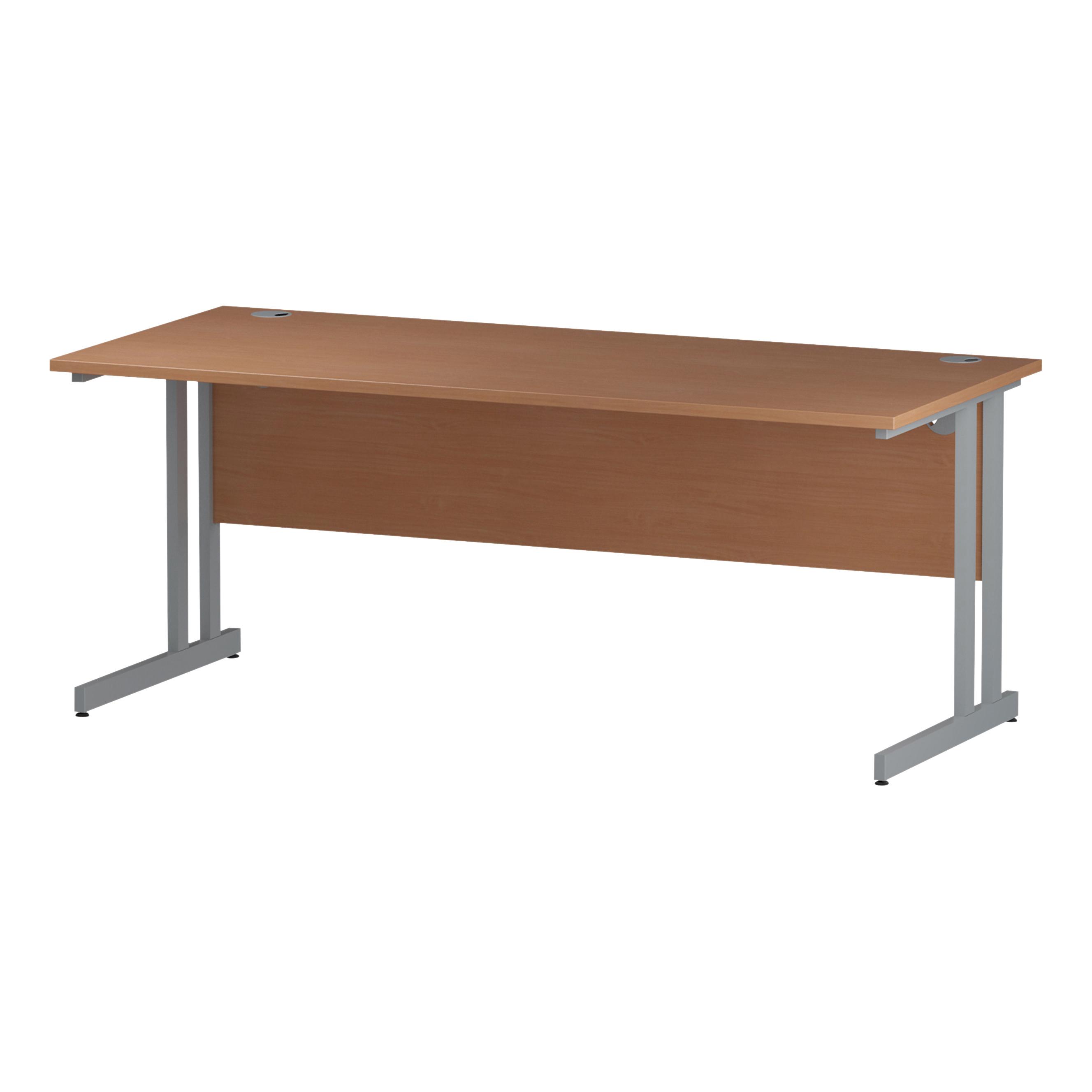 Trexus Rectangular Desk Cantilever Leg 1800mm Beech