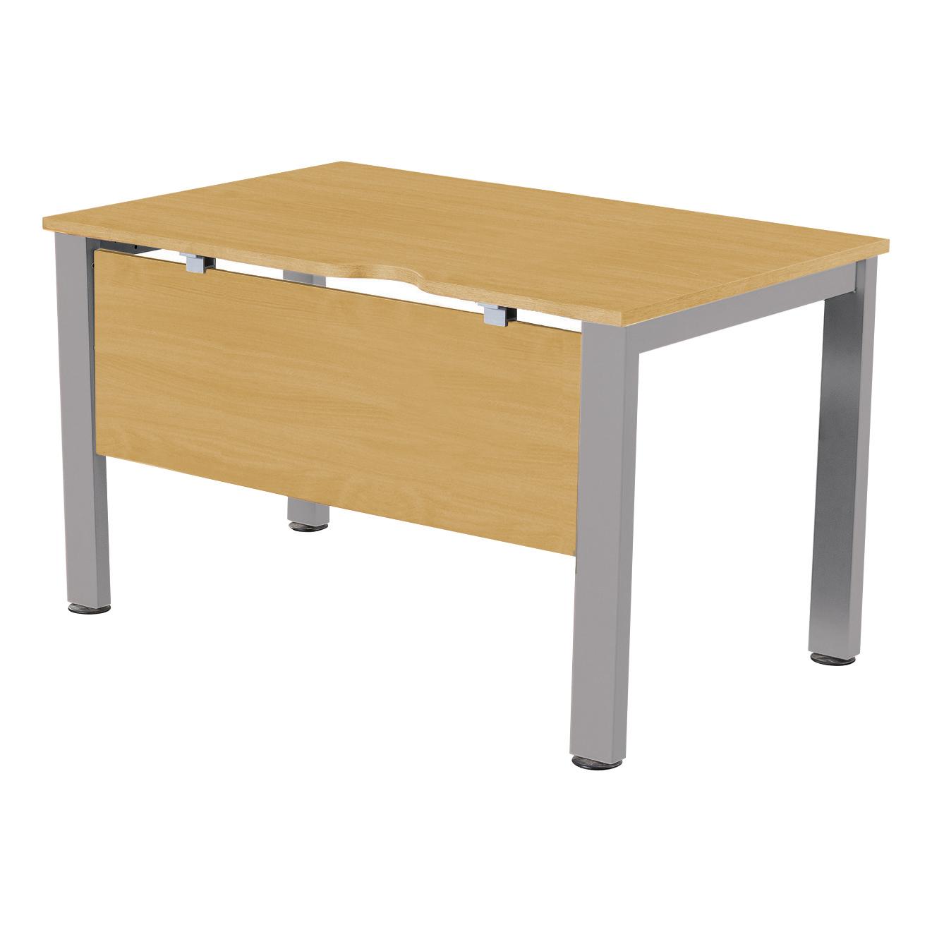 Sonix Standalone Desk Silver Legs 1000x800mm Natural Oak Ref fbcsmw10-1o